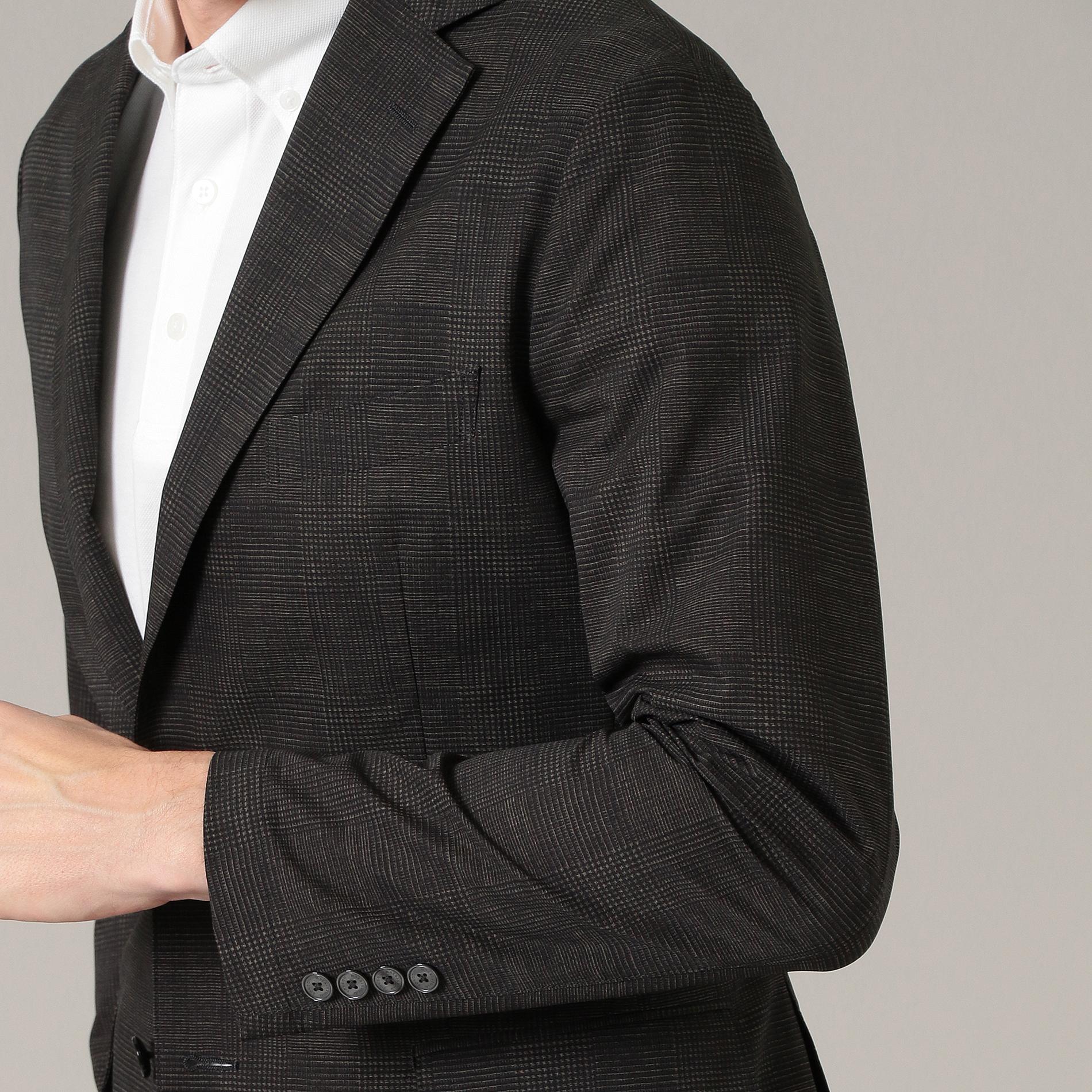【NEW BRIDGE】クールドッツグレンチェックプリントジャケット