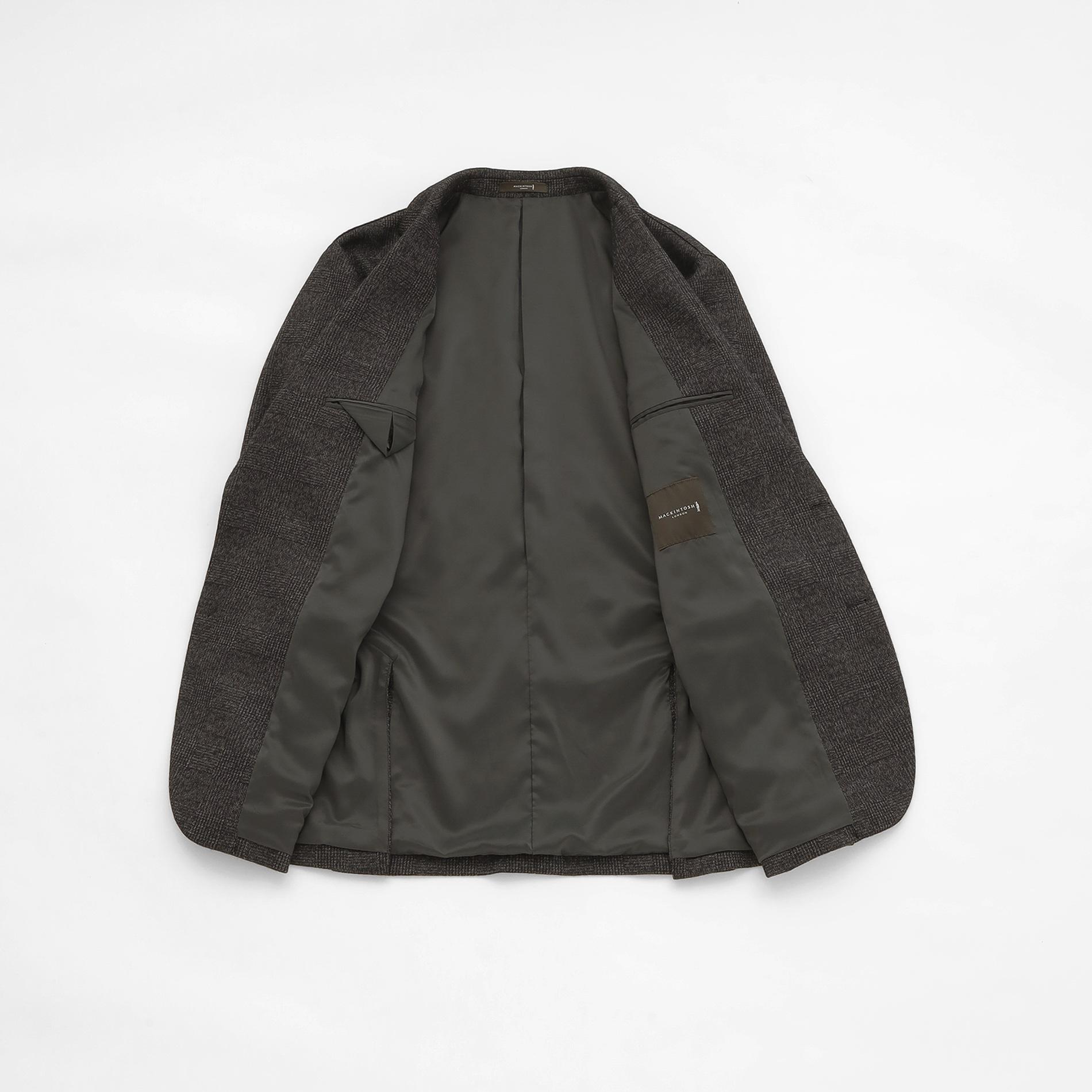 【FLEX JERSEY】杢グレーグレンチェックジャケット