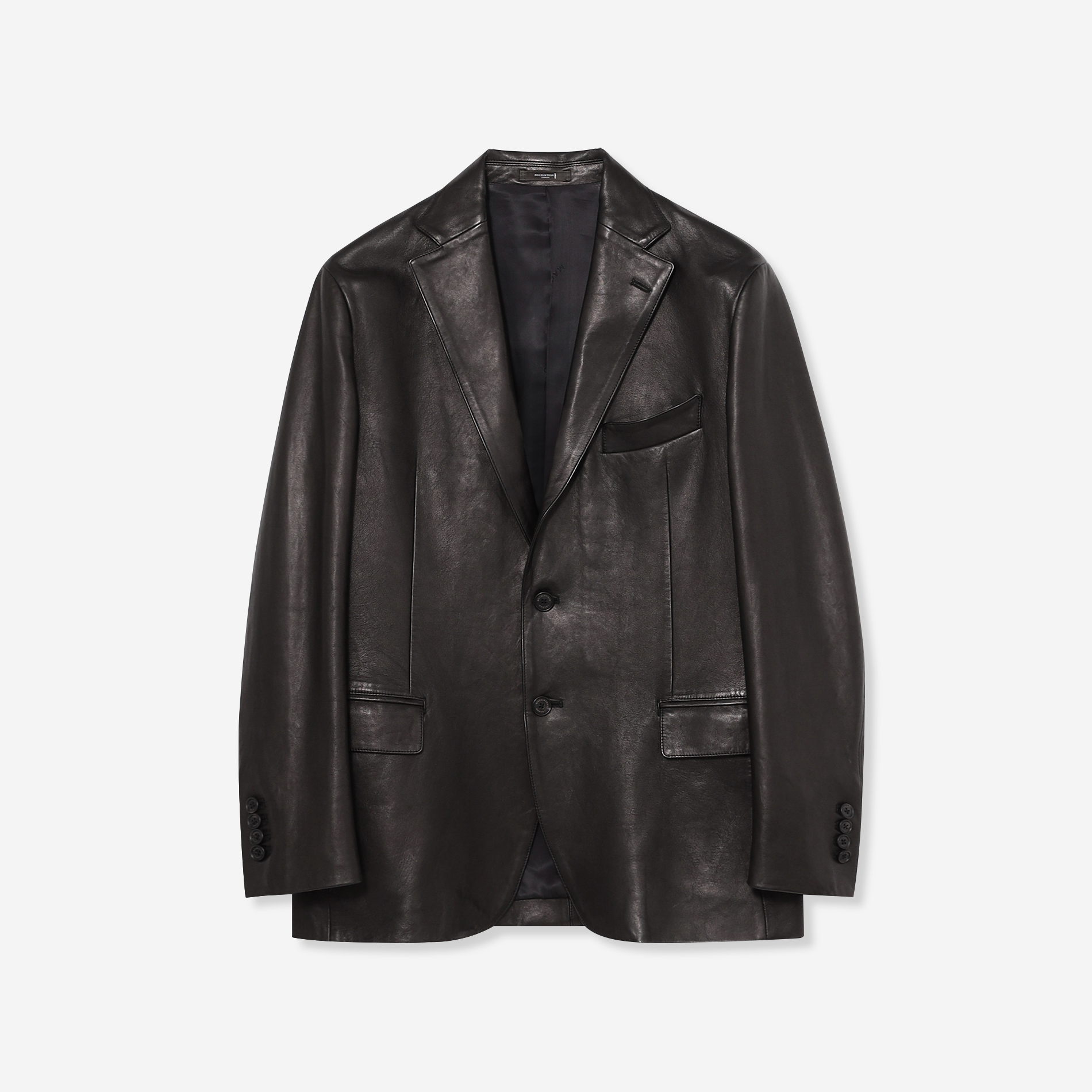 【Weatherproofed Leather】シングルジャケット