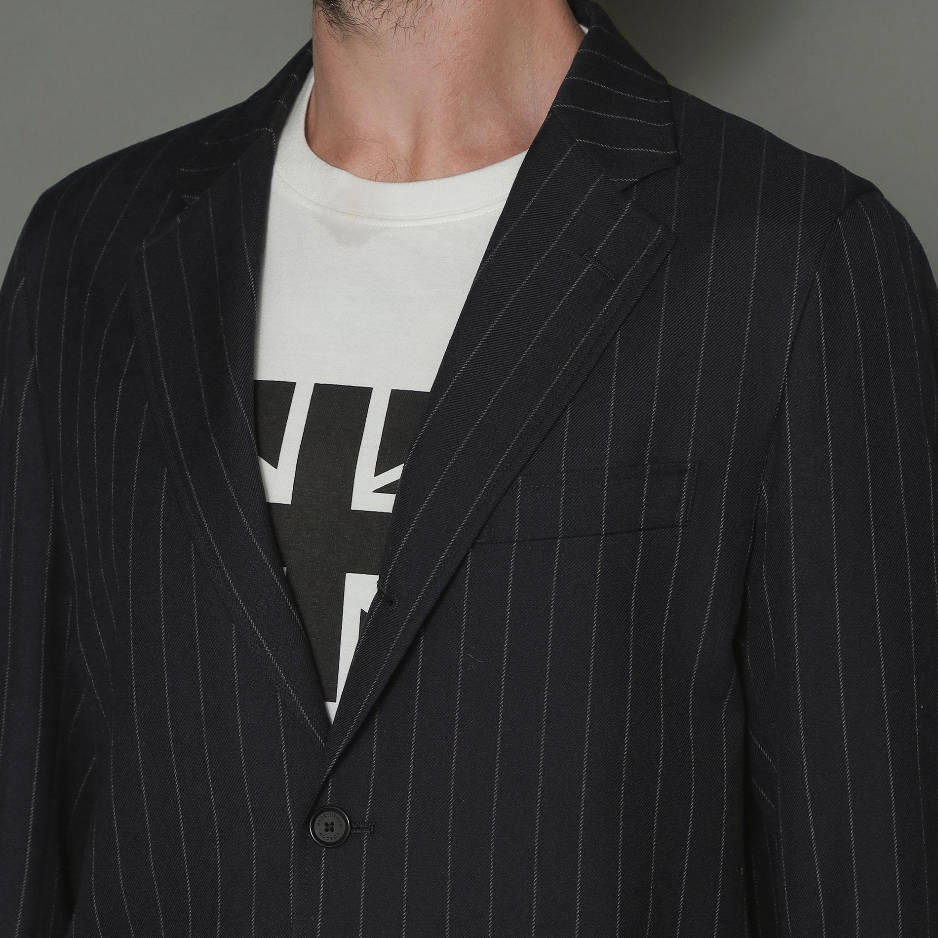 【Breasy Jacket】セットアップネイビーストライプジャケット