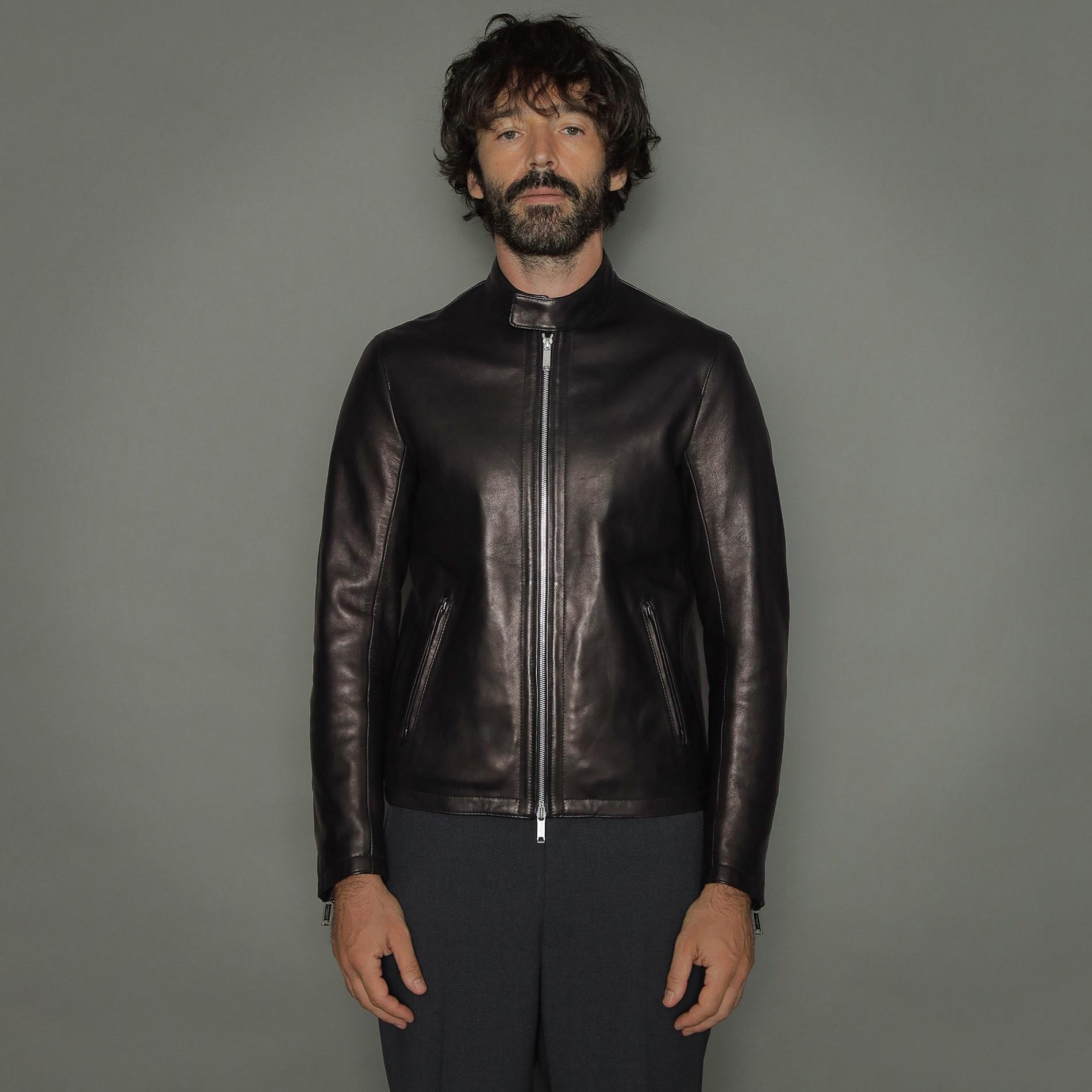 【Weatherproofed Leather】シングルレザーライダース