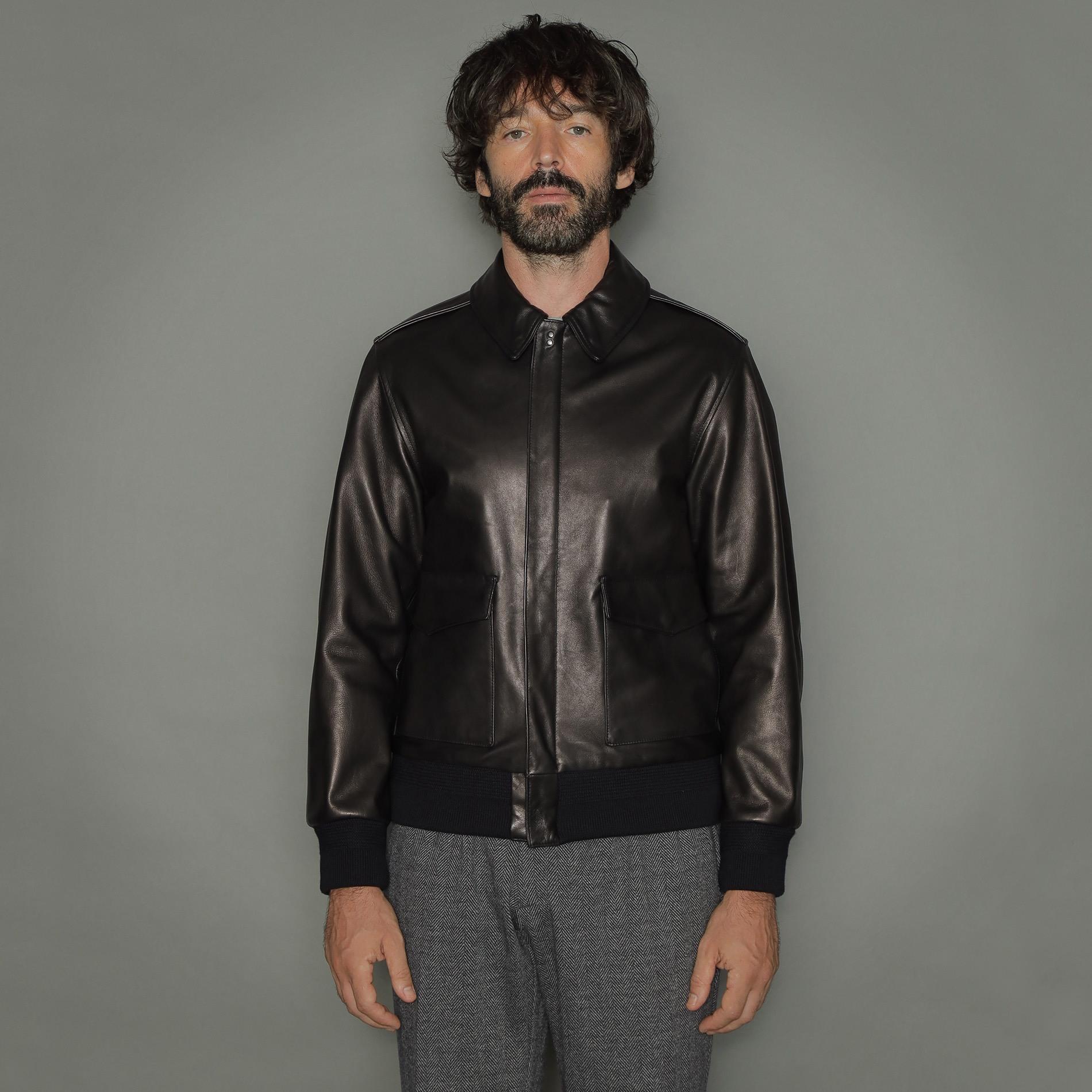 【Weatherproofed Leather】A-2ブルゾン