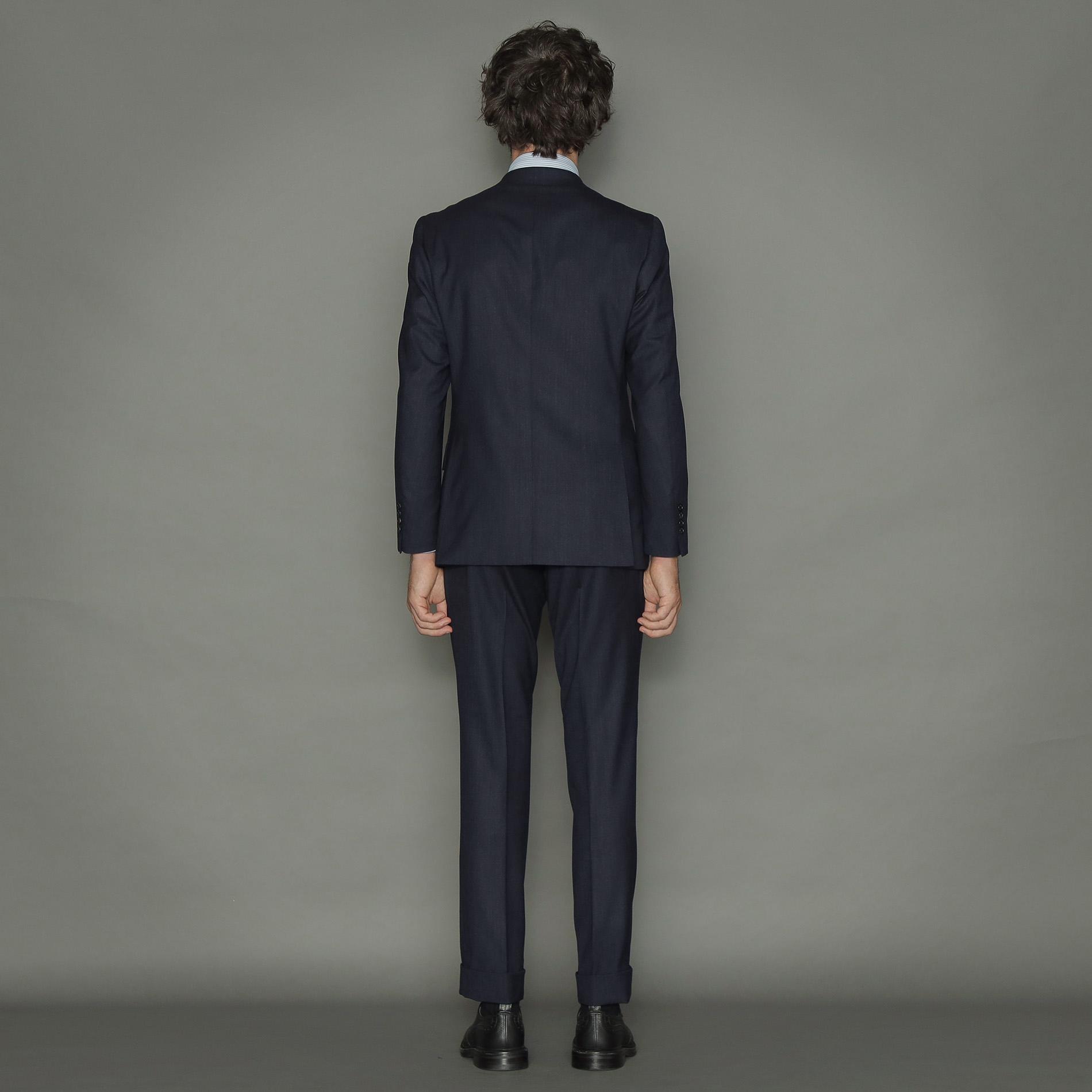 【NEW BRIDGE】【Loro Piana/ロロ・ピアーナ】メランジ無地スーツ