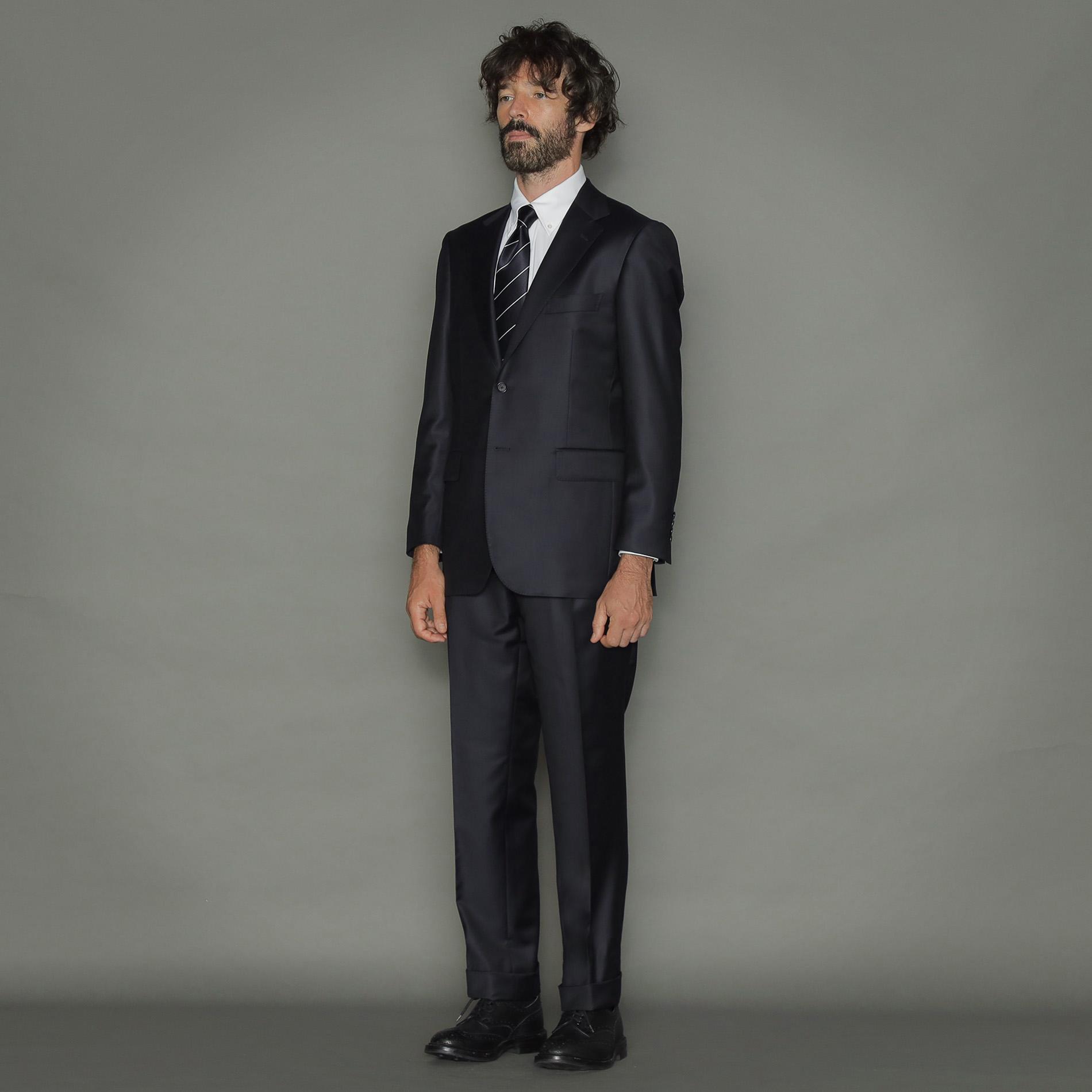 【OX BRIDGE】【Loro Piana/ロロ・ピアーナ】ツイル無地スーツ