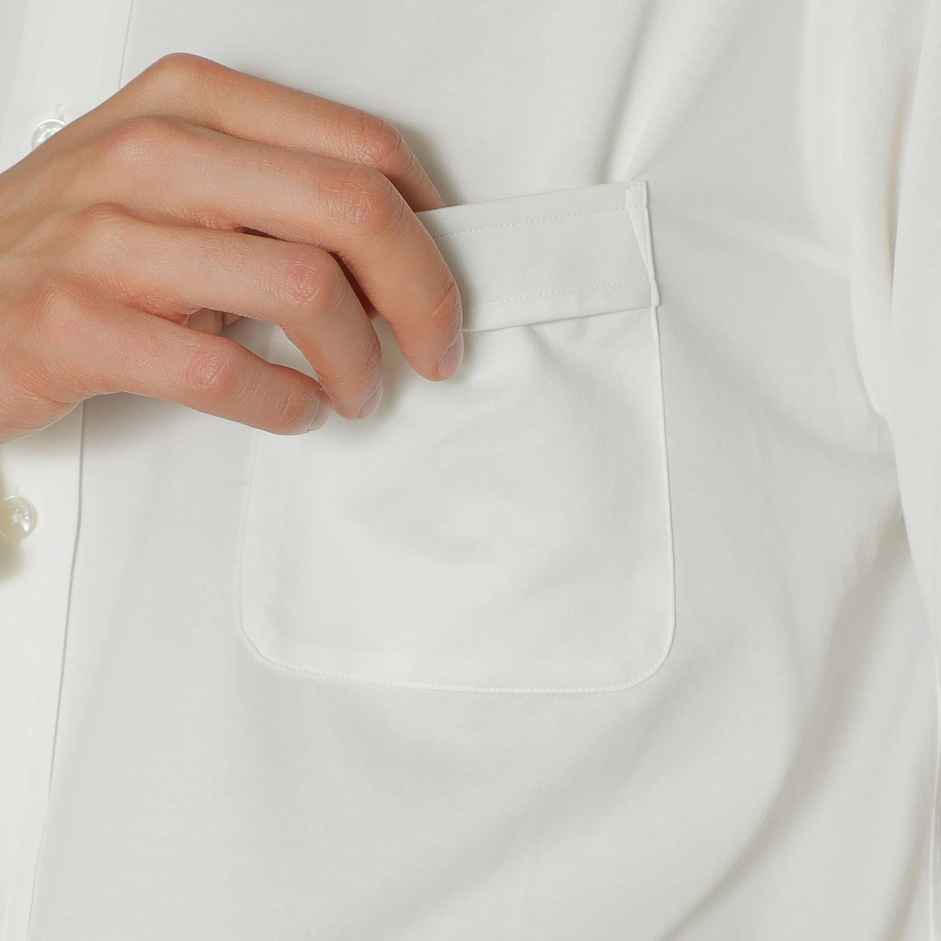 【ALBINI】ジャージ無地ドレスシャツ