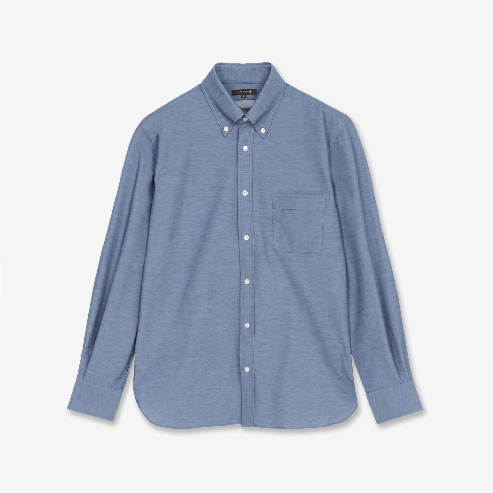 【ALBINI】デニム風ジャージシャツ