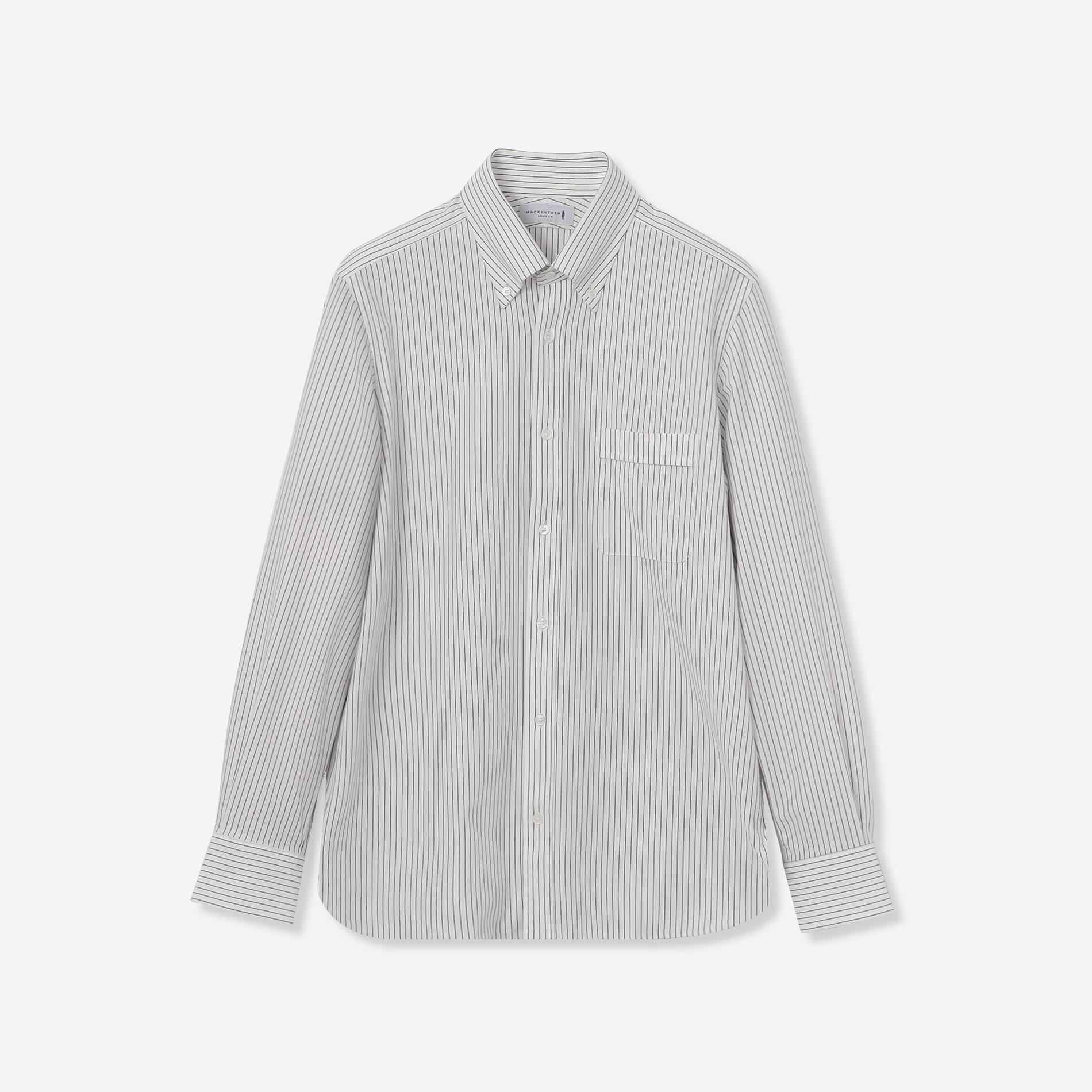 【FLEX JERSEY】ピンストライプジャージシャツ