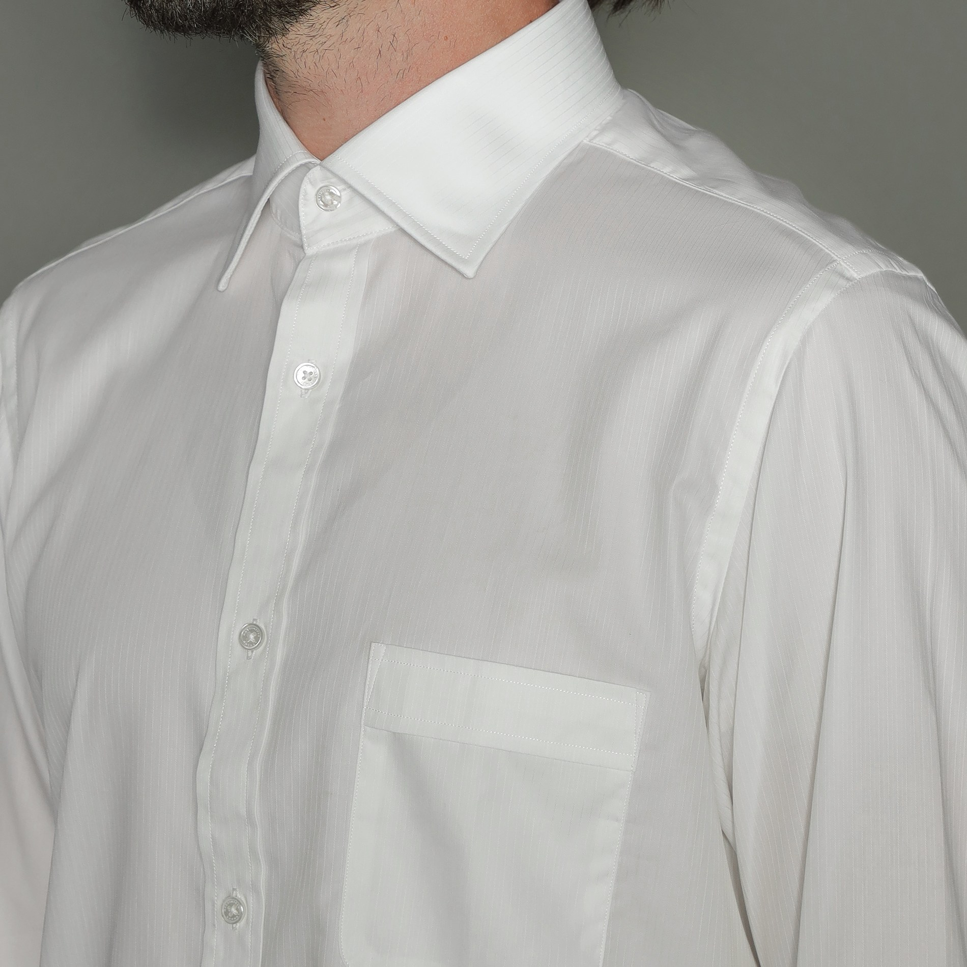 ドビーストライプシャツ
