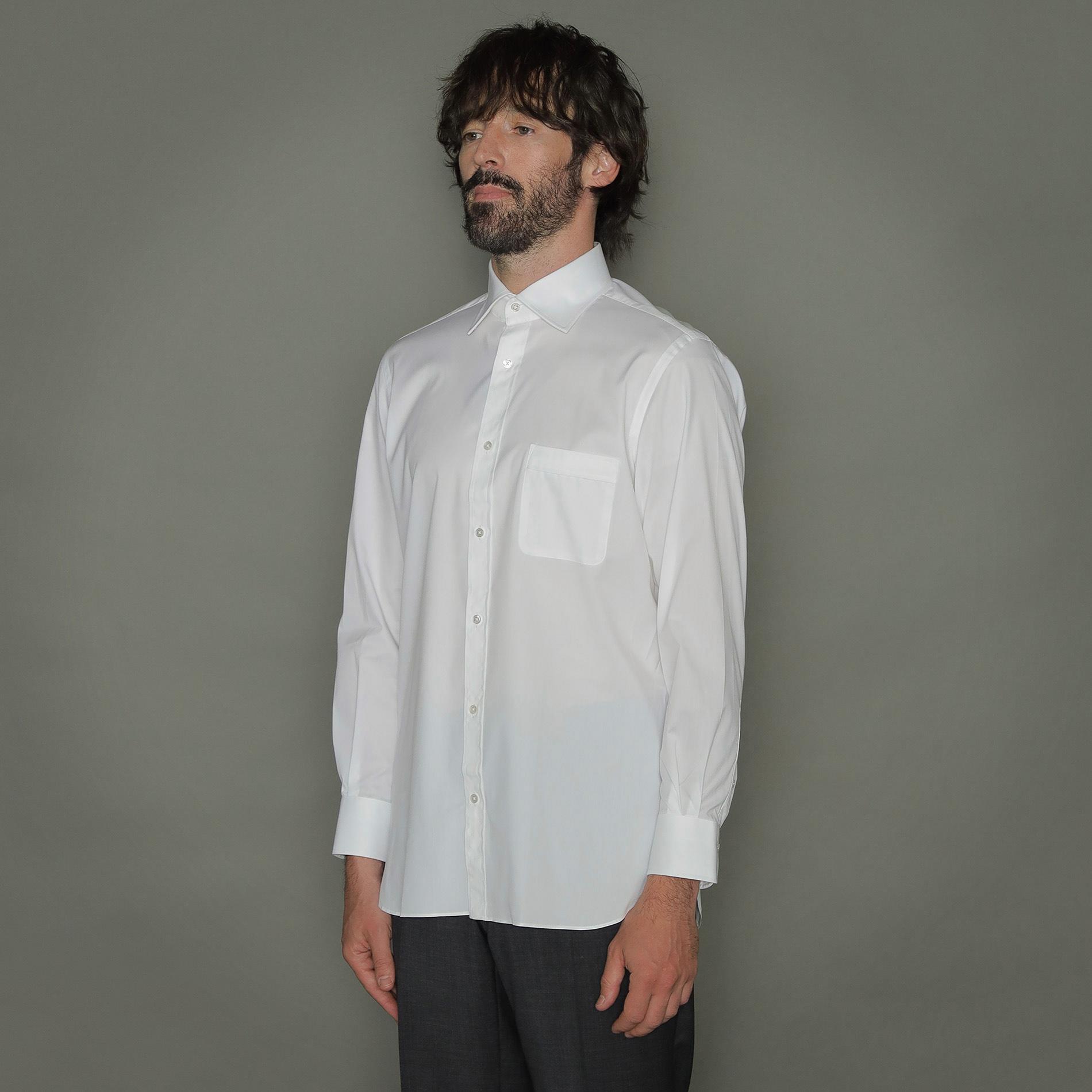 ポプリンドレスシャツ