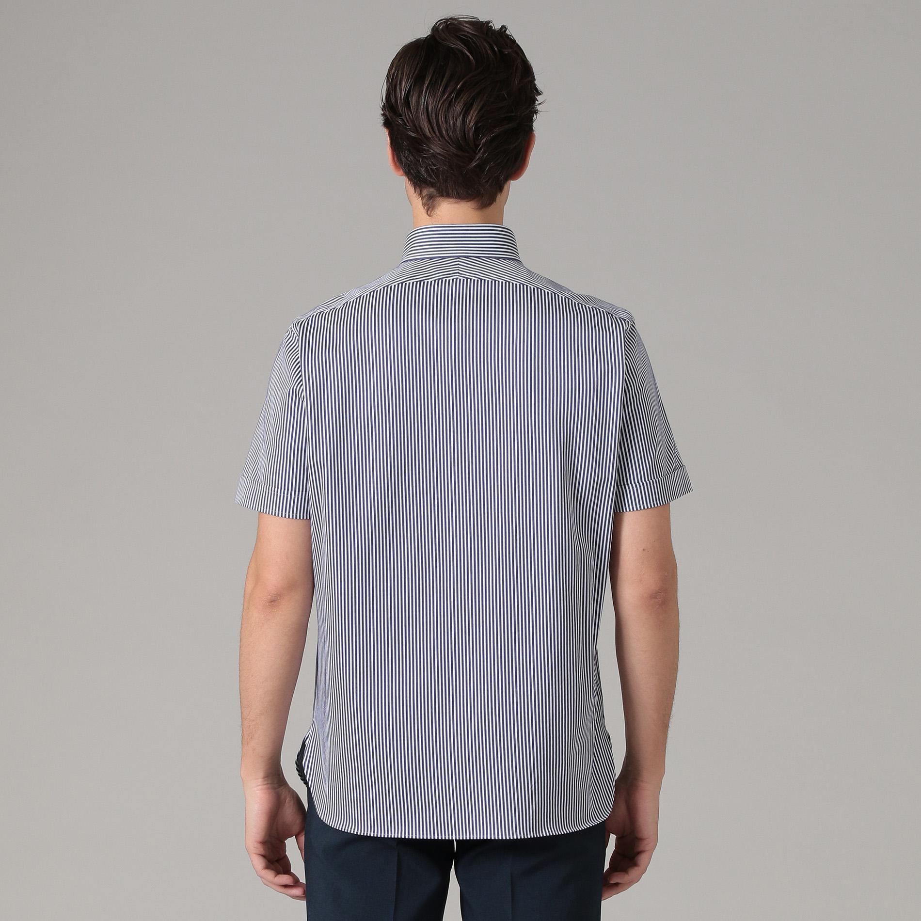 【ALBINI】ストライプジャージシャツ
