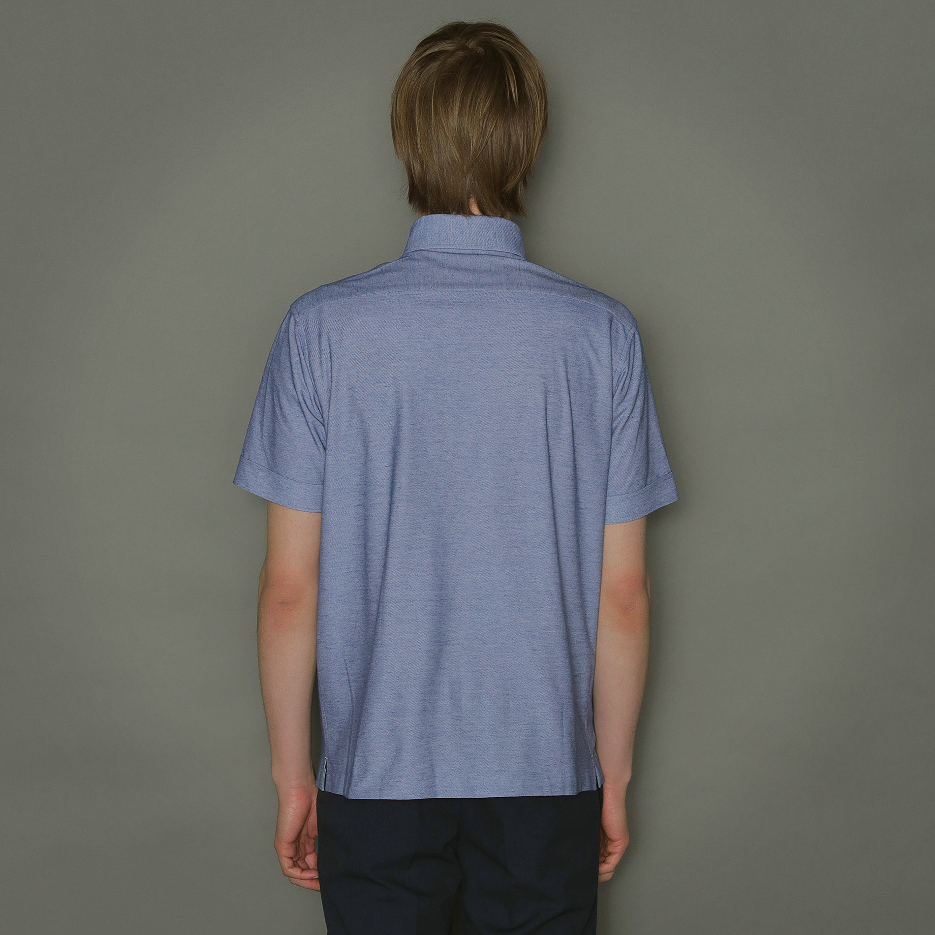 【FLEX JERSEY】デニム調ジャージドレスポロシャツ