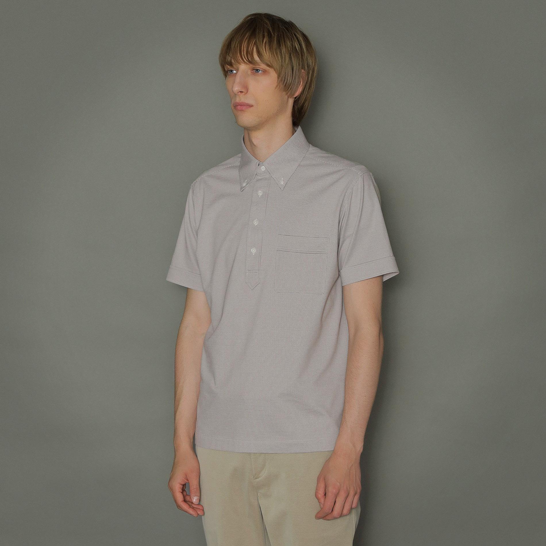【FLEX JERSEY】ハウンドトゥースジャージドレスポロシャツ