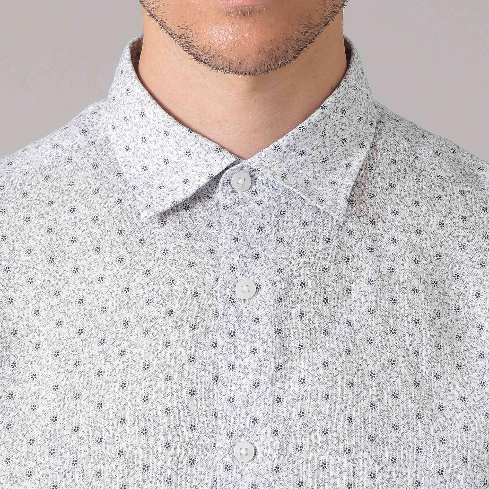 【MONTI】フラワープリントシャツ