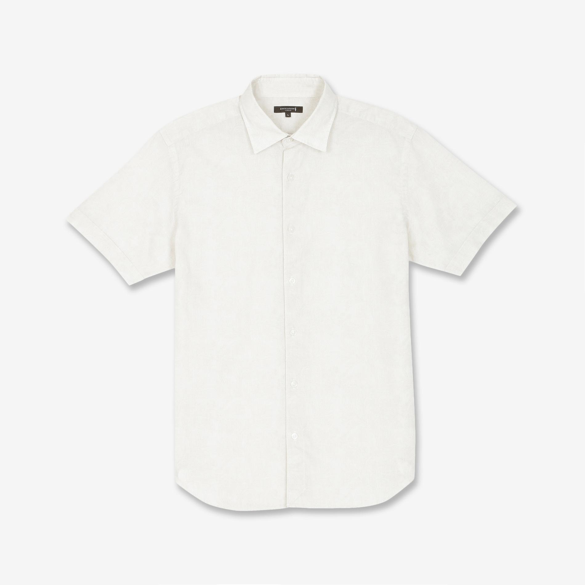 バイブリーフラワープリント半袖シャツ