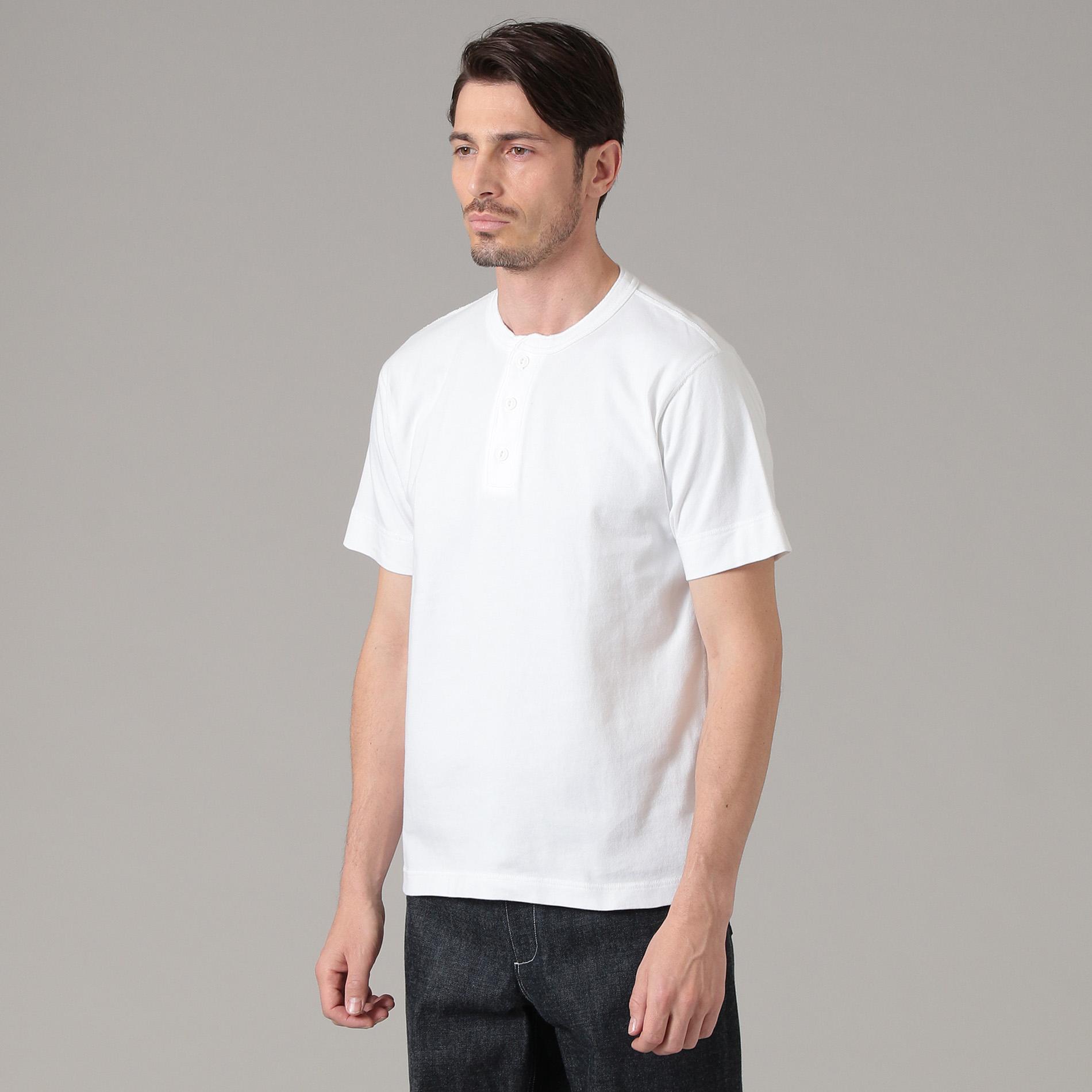 【Healthknit】コラボヘンリーネックTシャツ