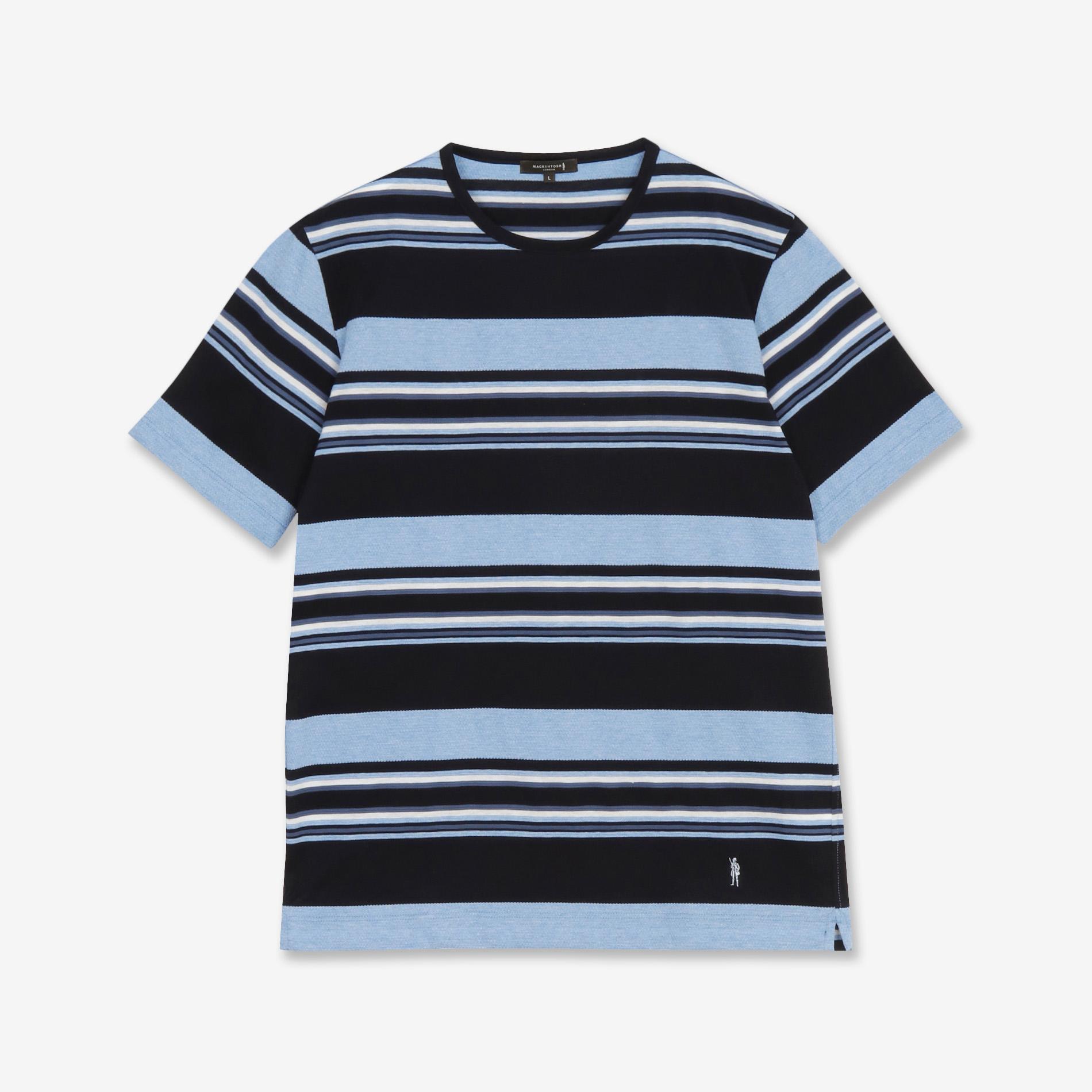 先染めパネルボーダーTシャツ