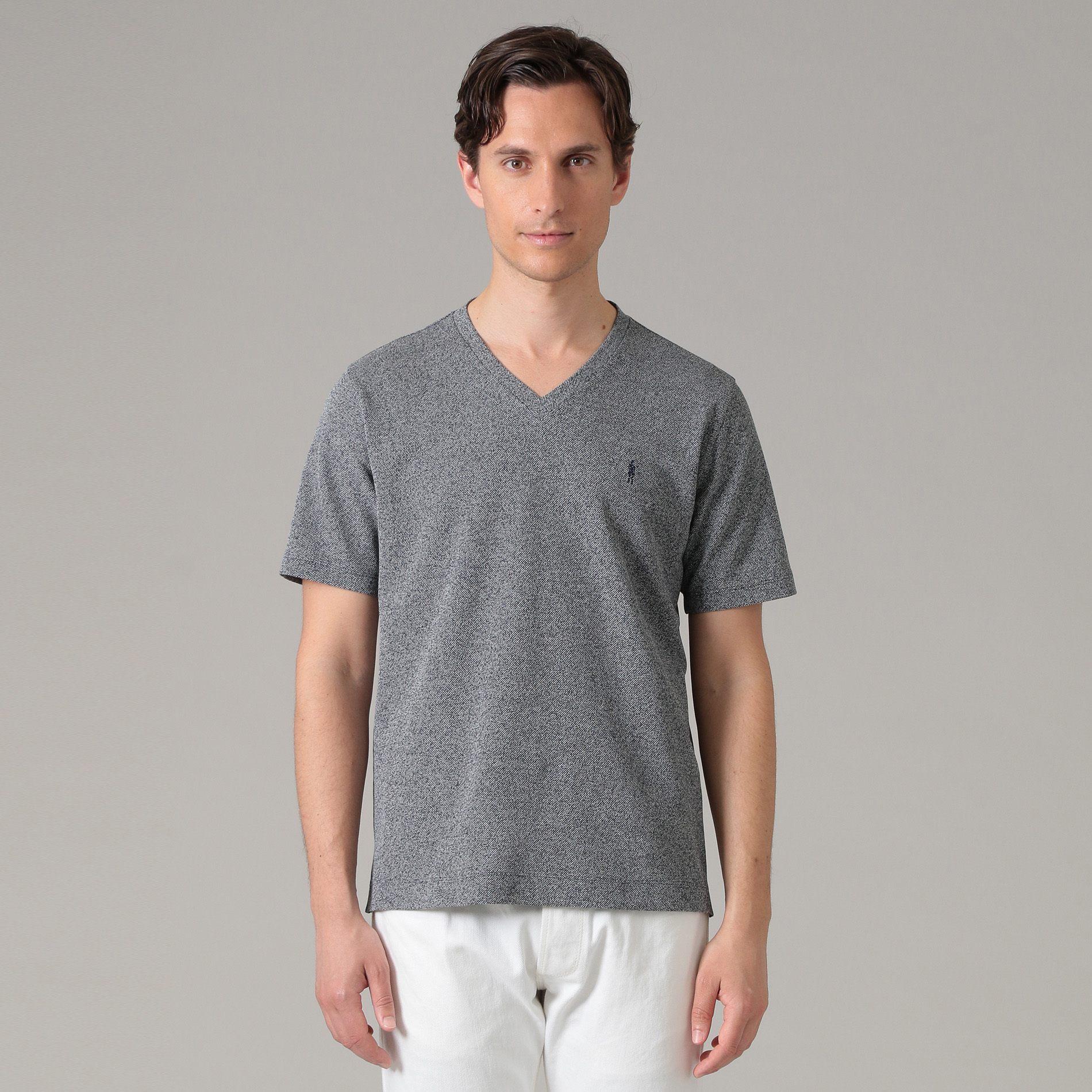 メランジVネックTシャツ