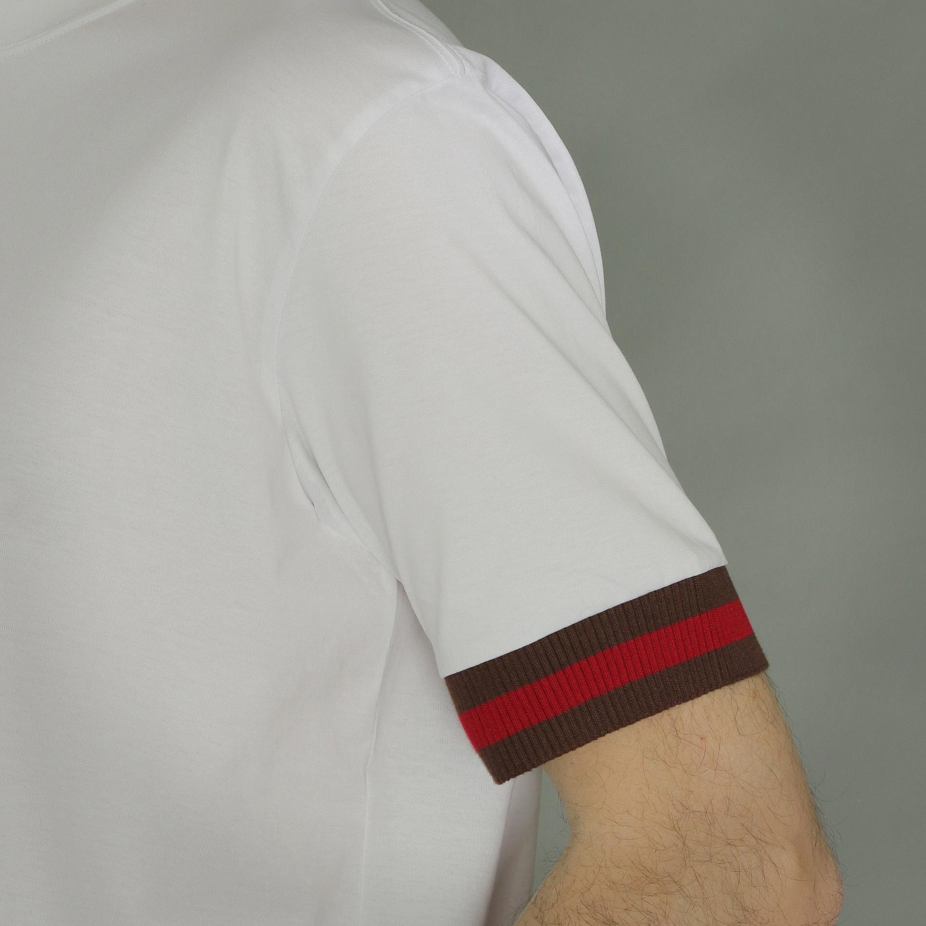 ハウスカラー袖ラインTシャツ