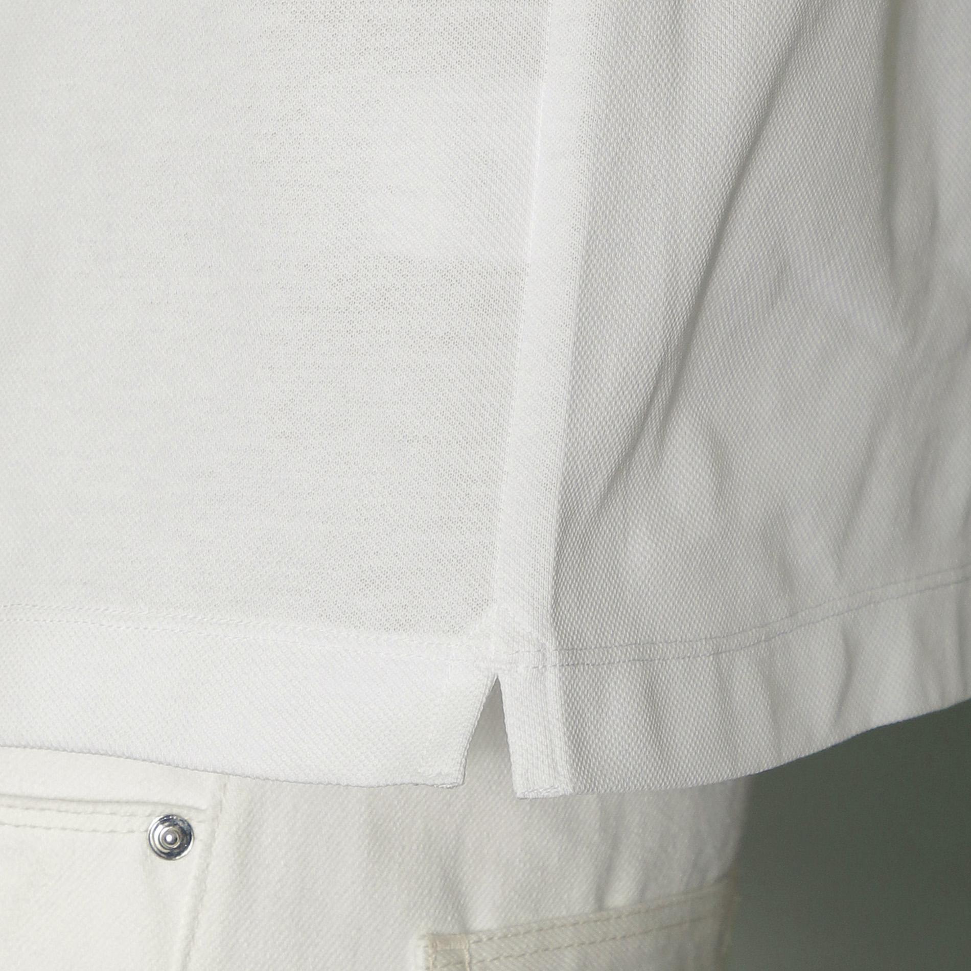 ハウスカラー衿ラインポロシャツ