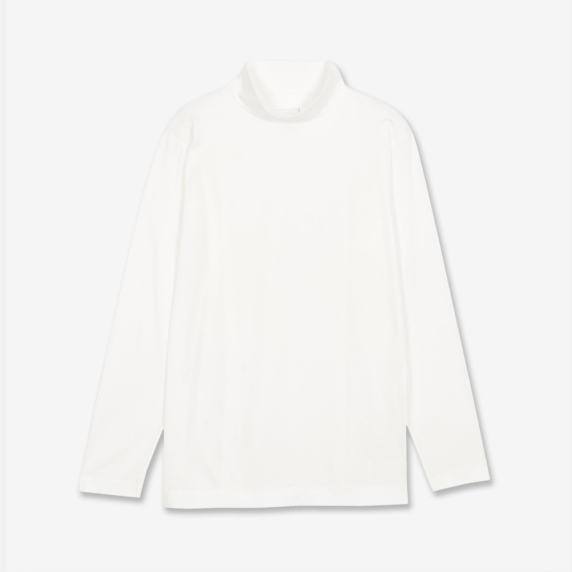 天竺モックネックロングTシャツ