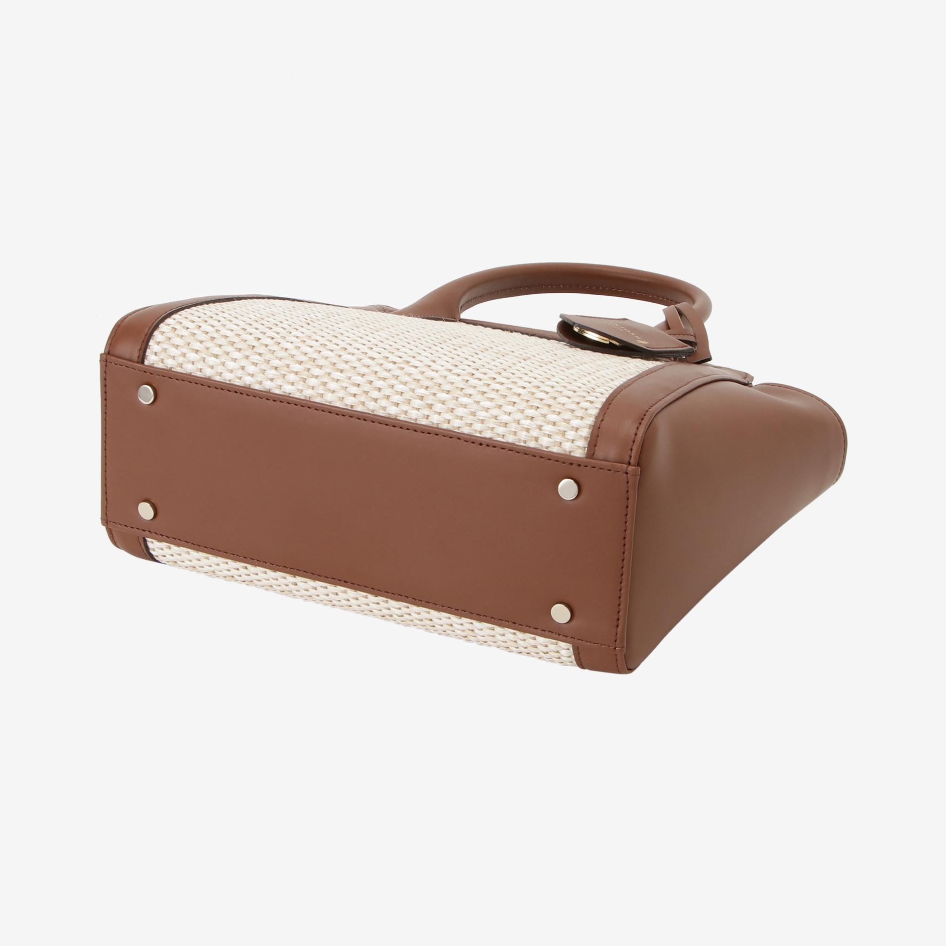 チェリーパナマレザーハンドバッグ