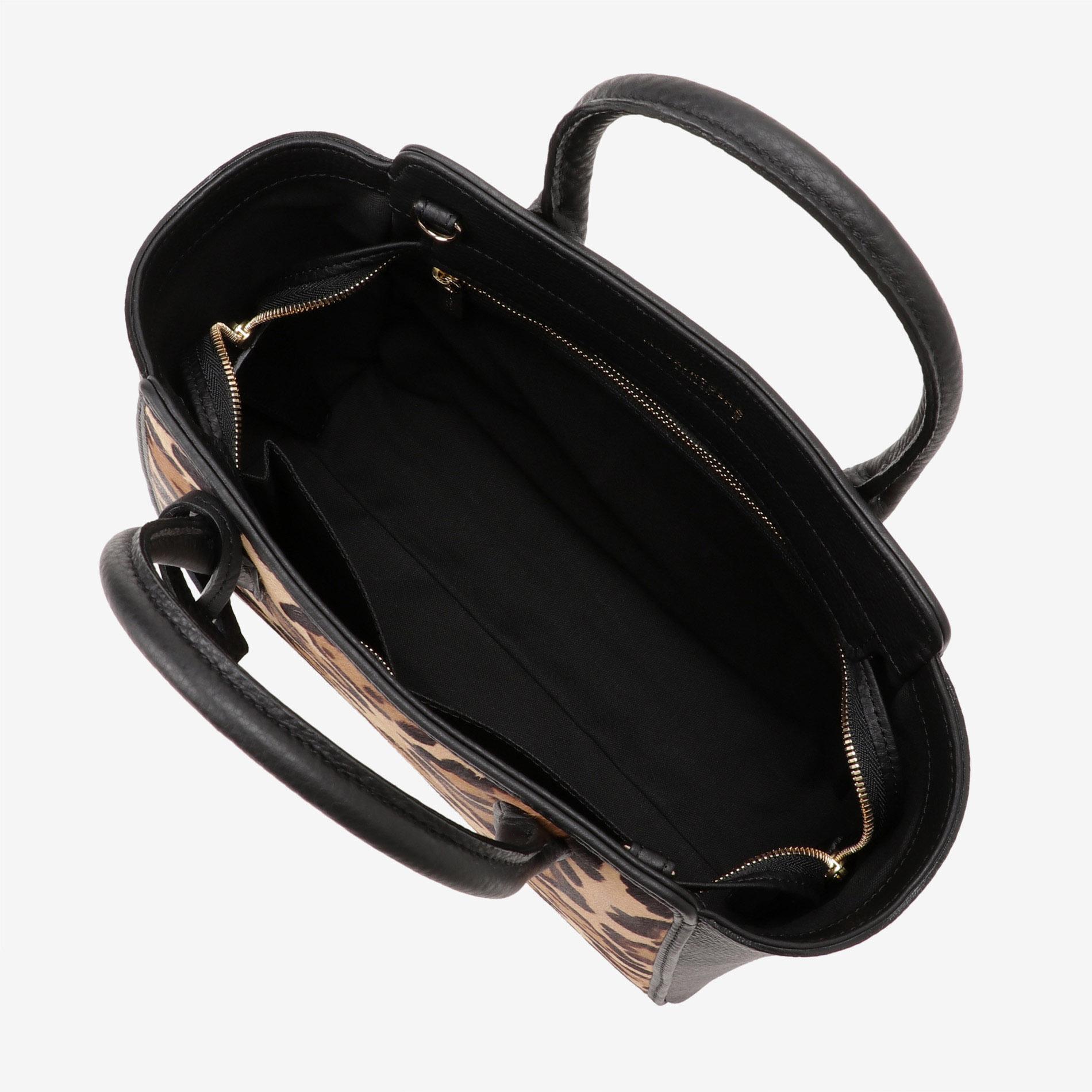 レオパードレザーハンドバッグ