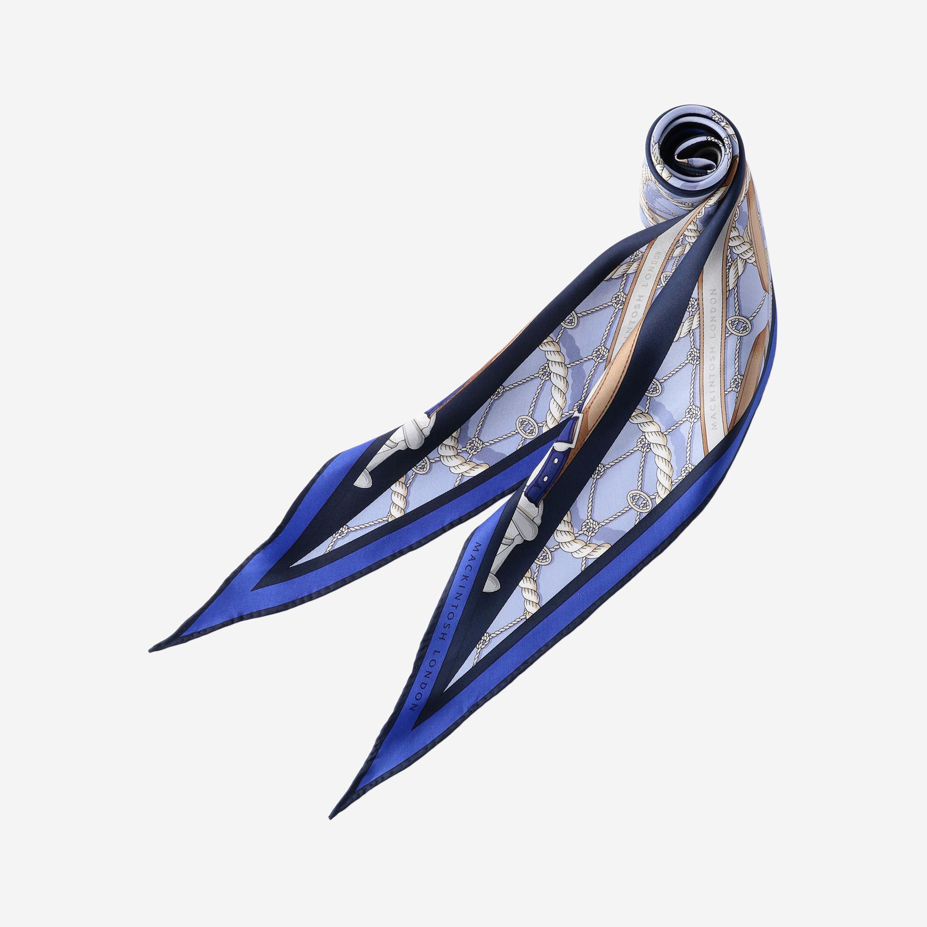 マリン柄ダイヤモンドシェイプスカーフ