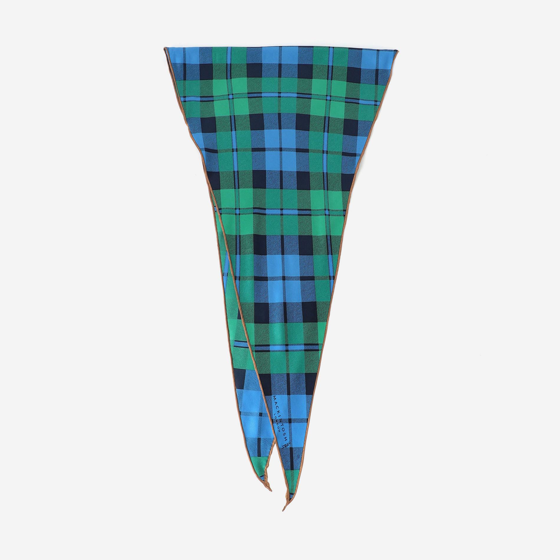タータンチェックダイヤモンドシェイプスカーフ