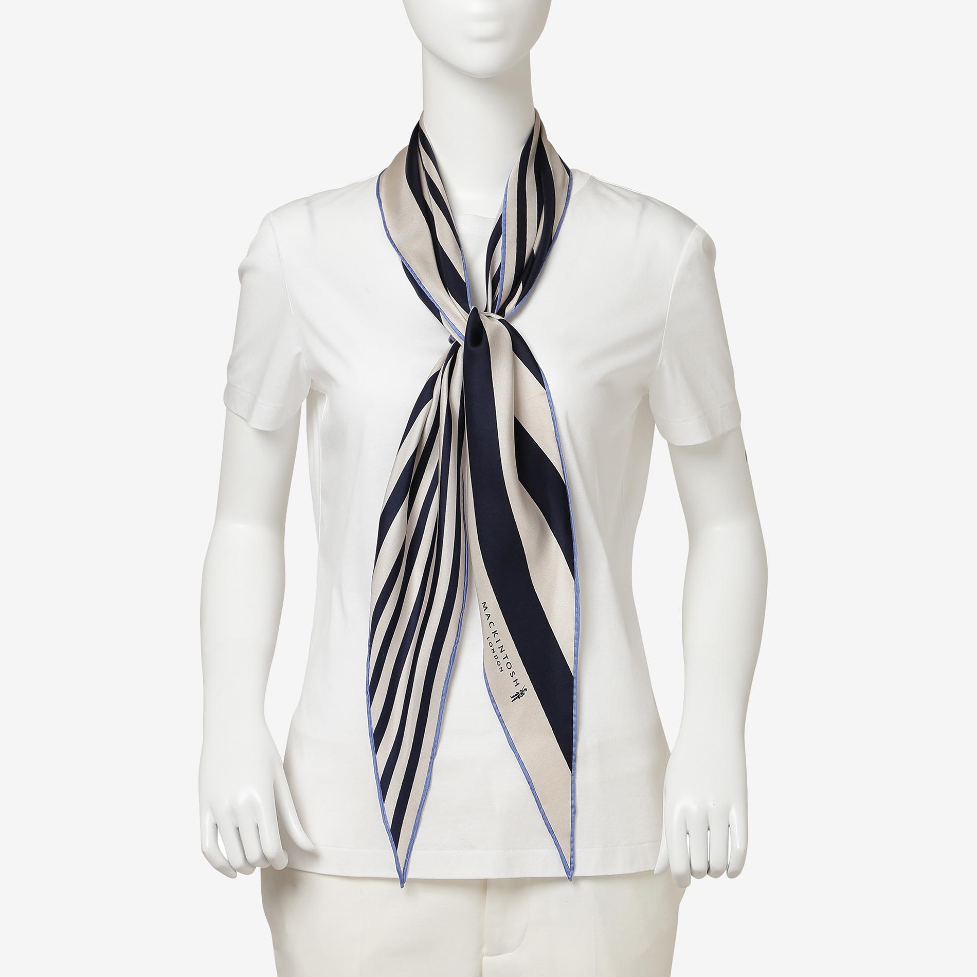 ストライプダイヤモンドシェイプスカーフ