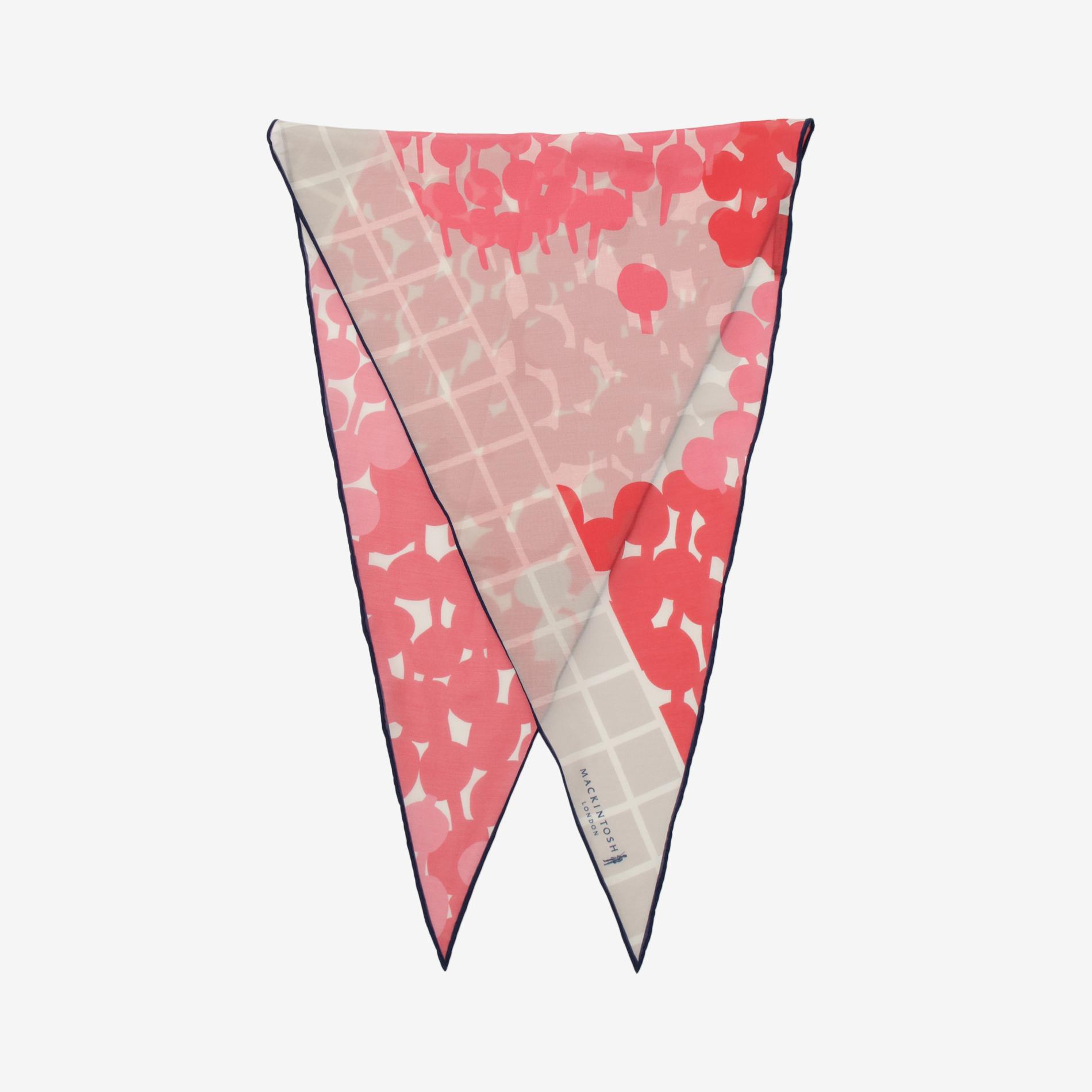 ランダムドットダイヤモンドシェイプスカーフ