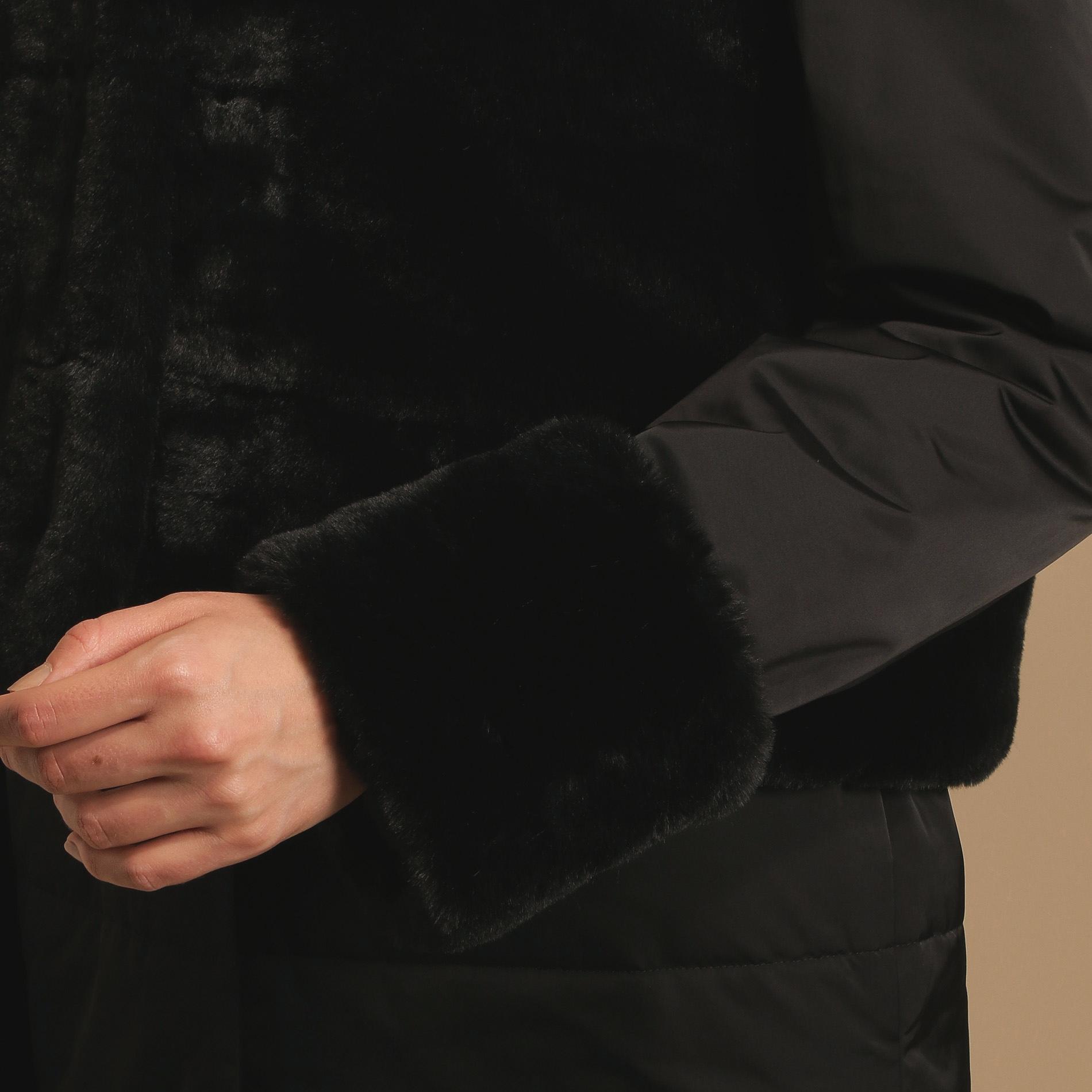 スムースサテンストレッチシンダウンコート