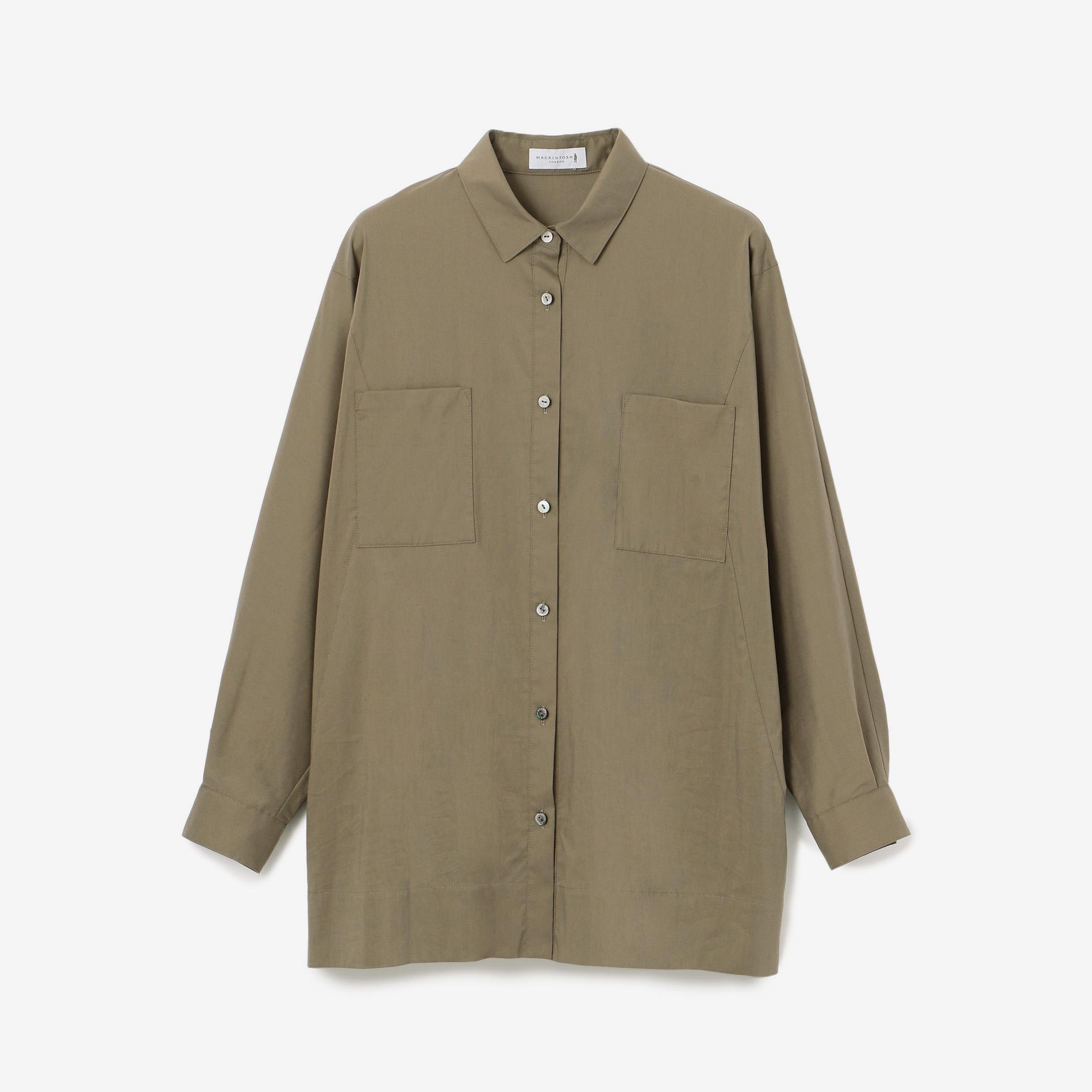 コットンナイロンストレッチツイルシャツ