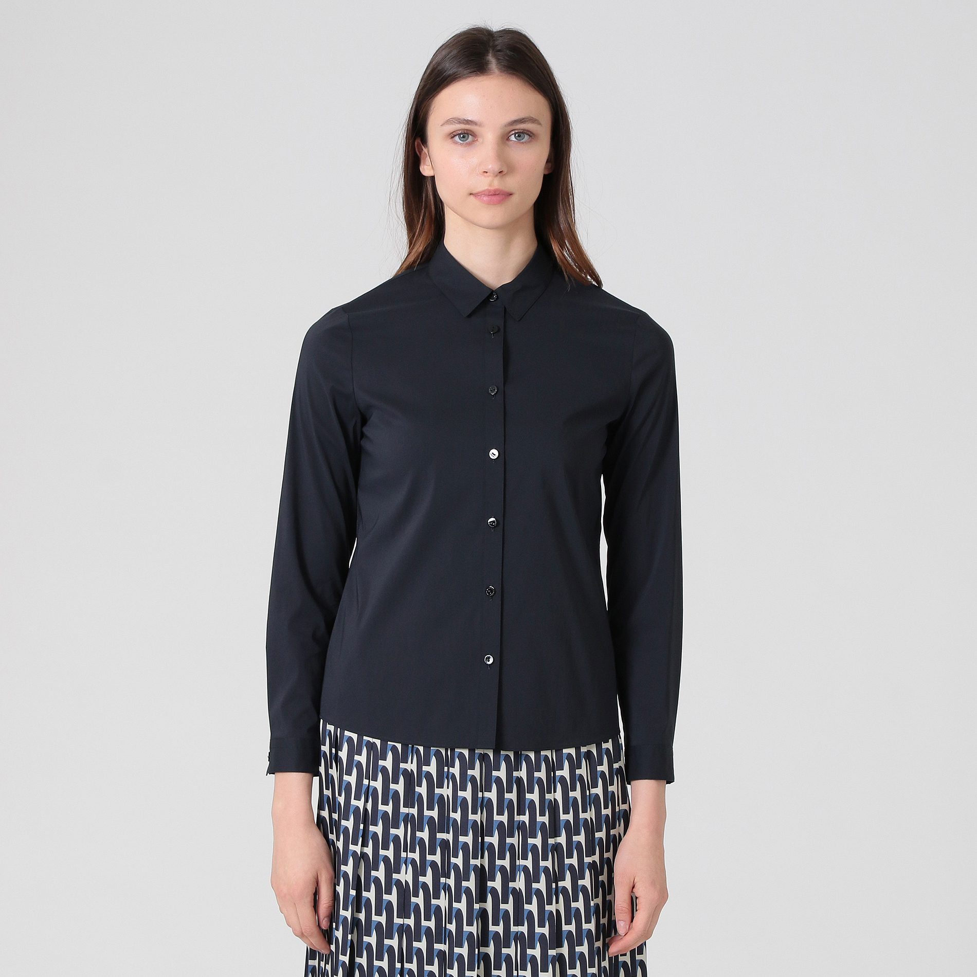 フィルコットンナイロンストレッチシャツ