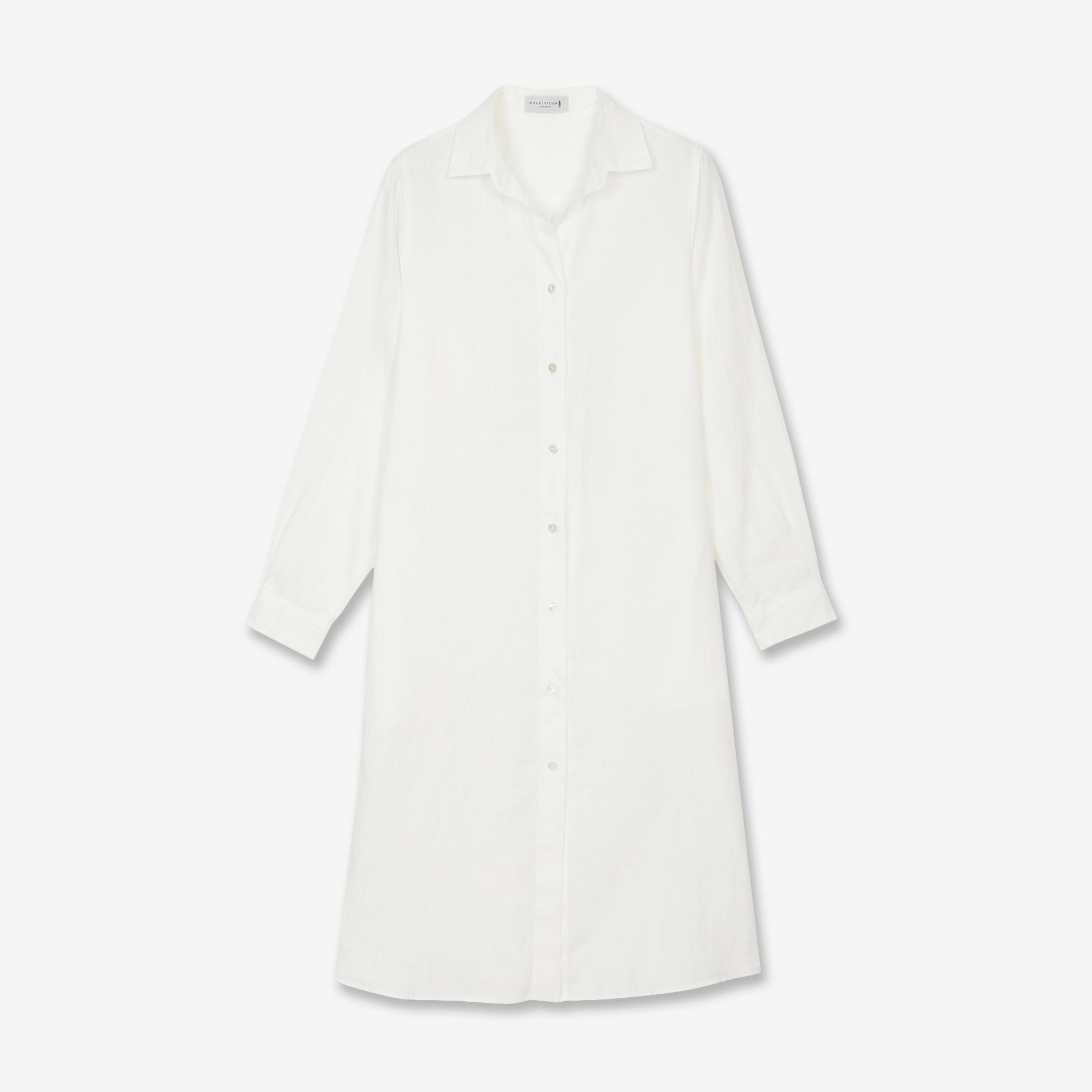 70フレンチ麻ロングシャツ