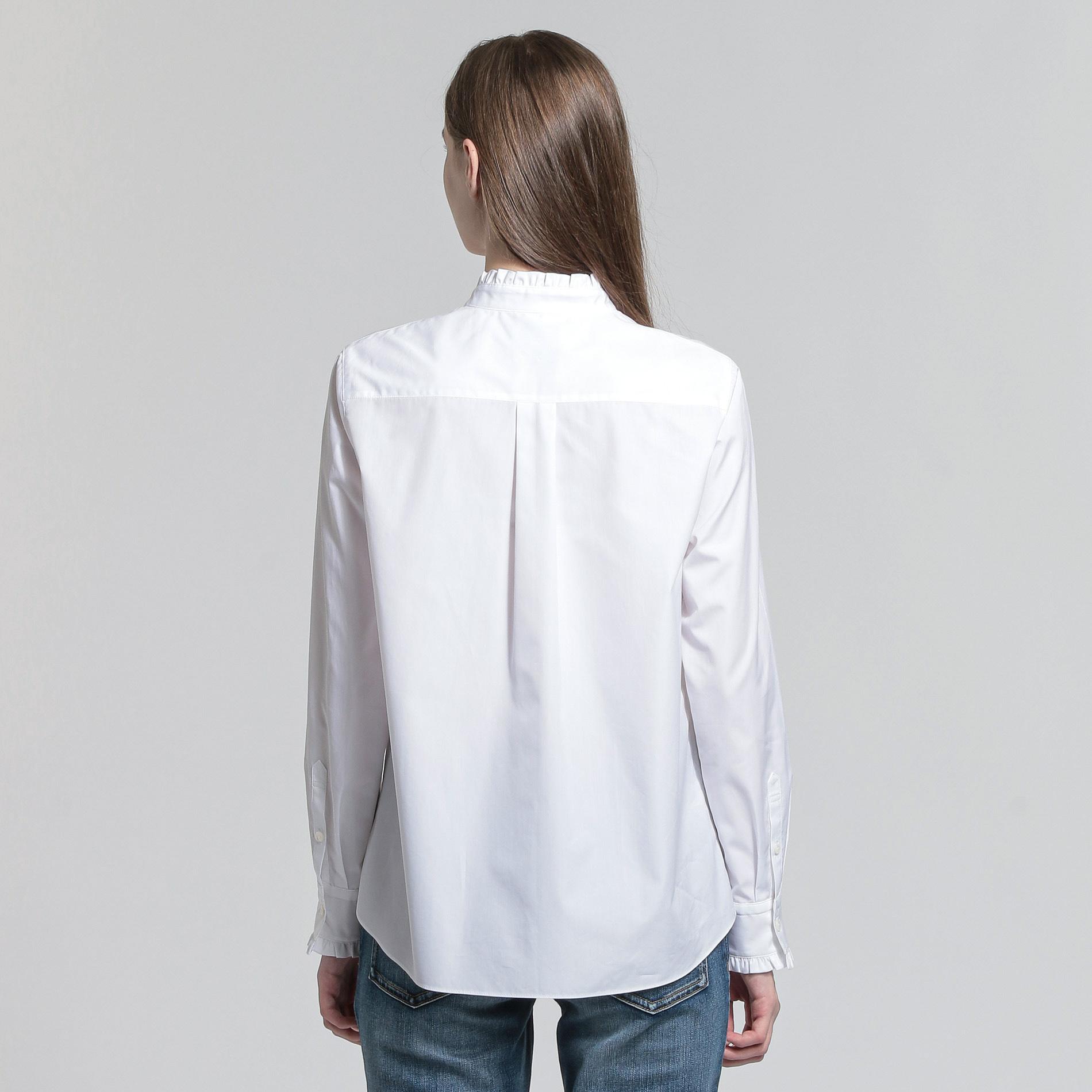 ハイカウントブロードフリルカラーシャツ