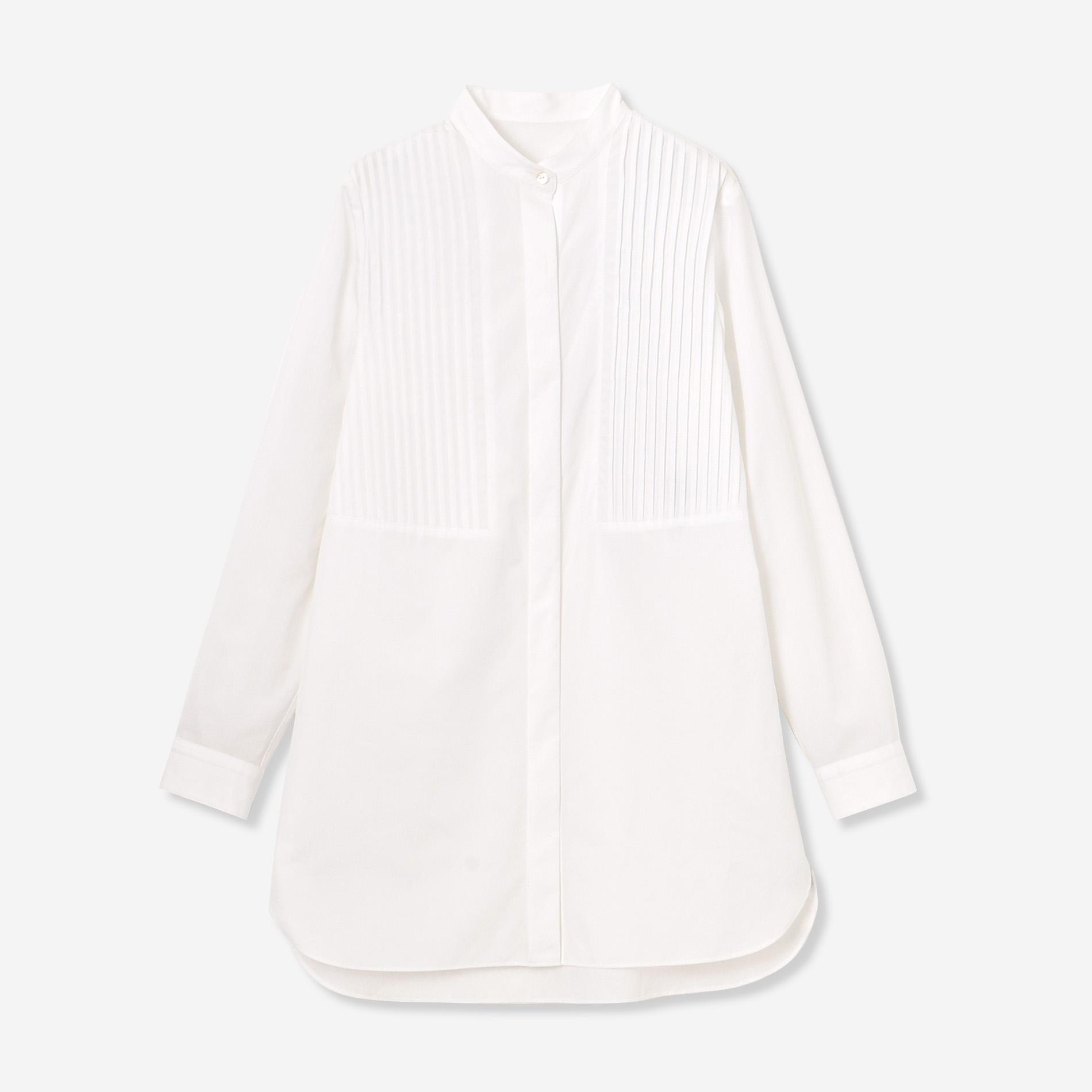 ハイカウントブロードスタンドカラーシャツ