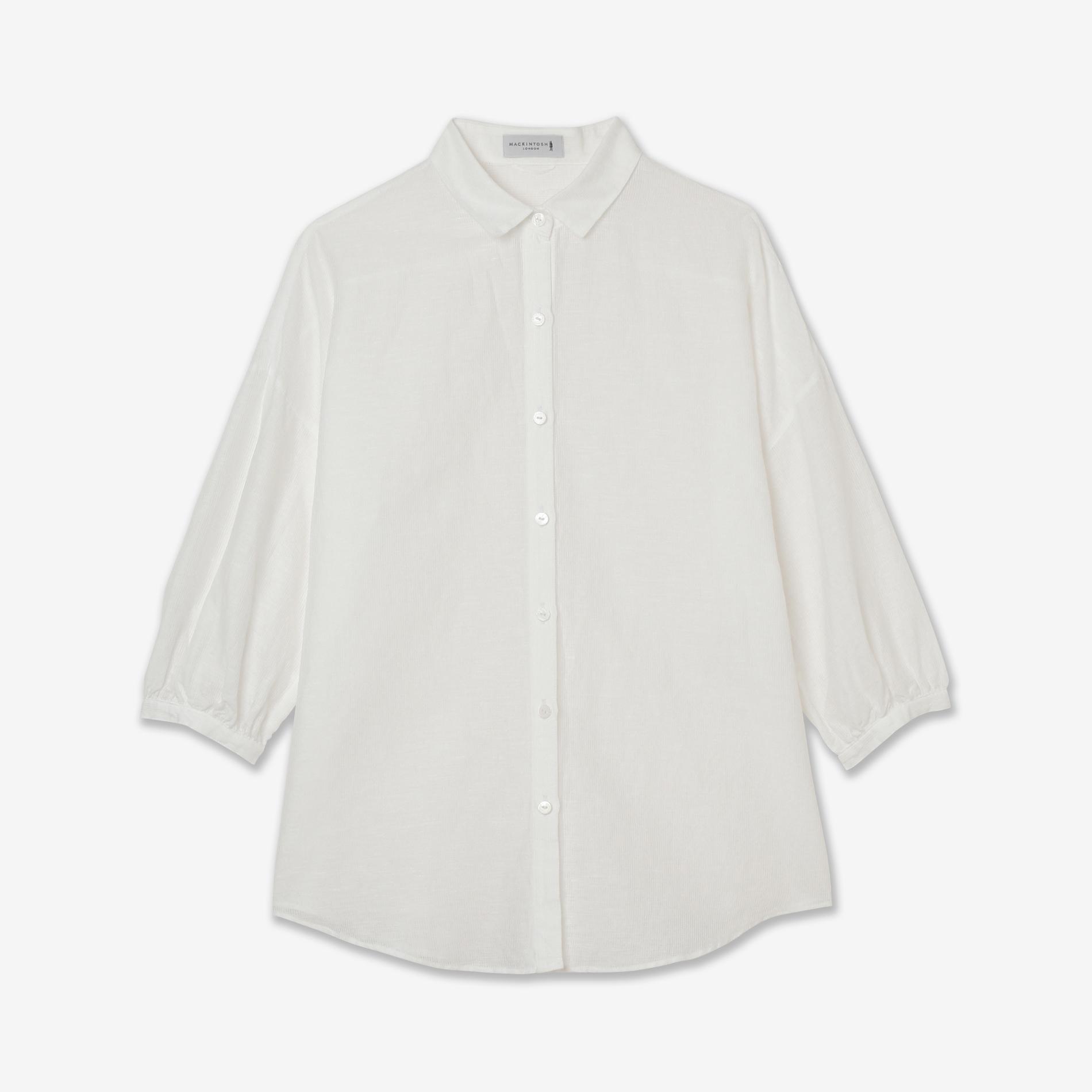 コットンリネンピケボイルシャツ