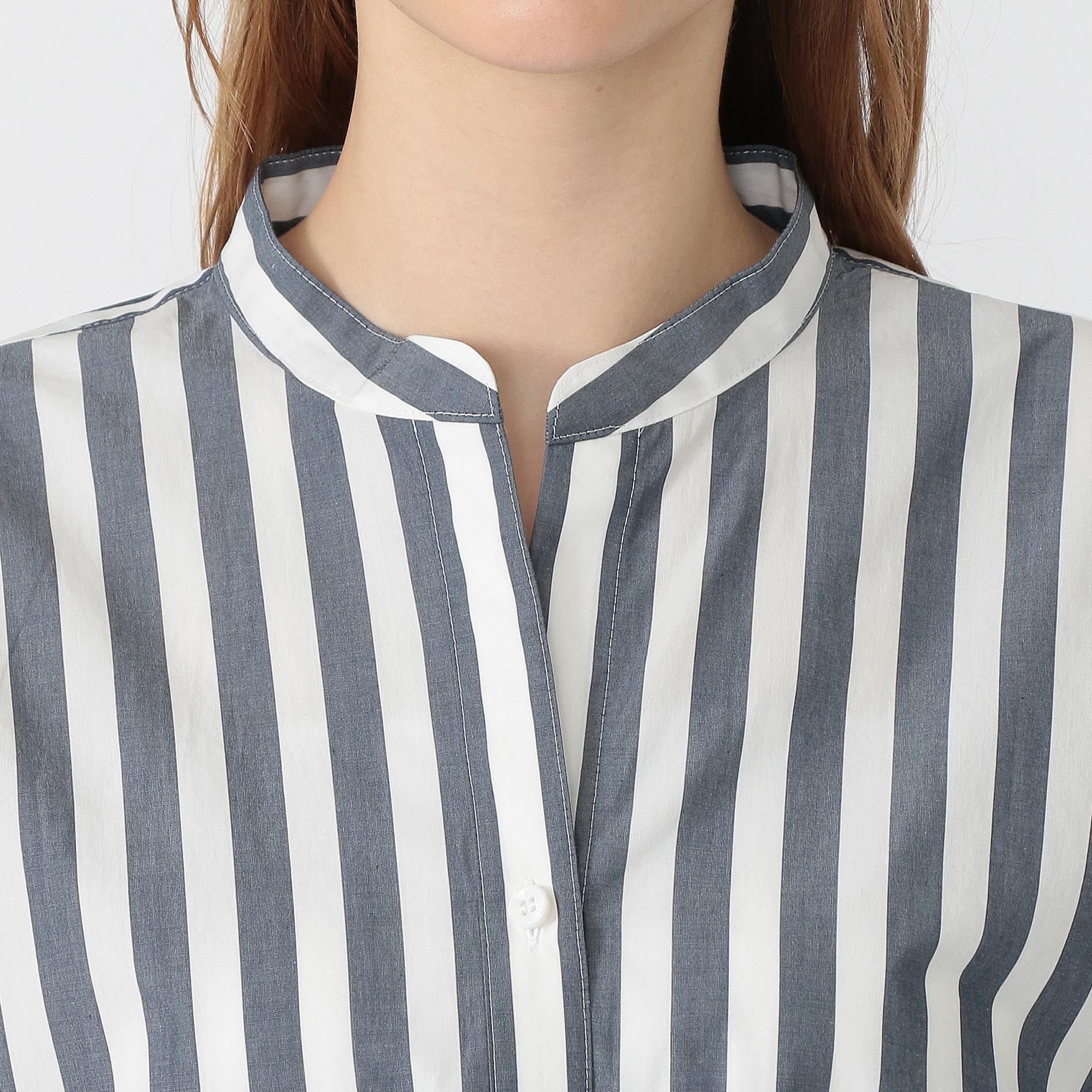 ワイドストライプシャツ