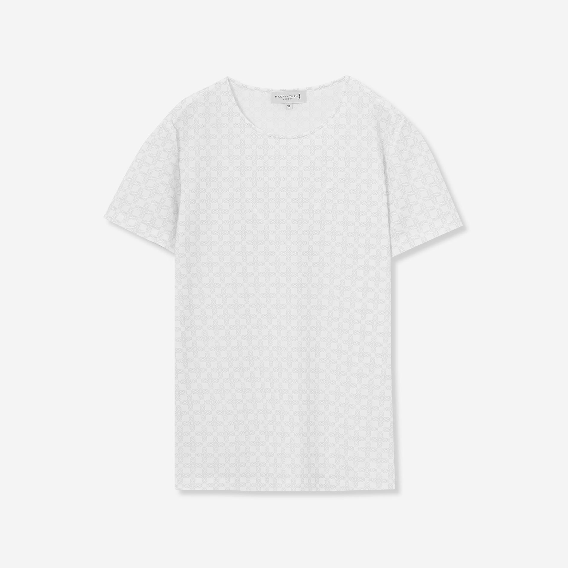 トリコットストレッチアンドリュープリントTシャツ