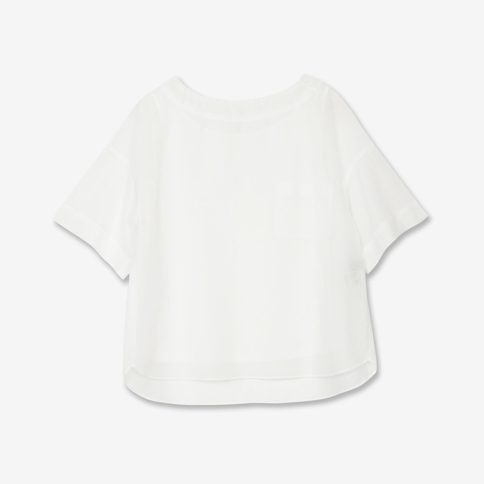 コットンボイルストライプシャツ