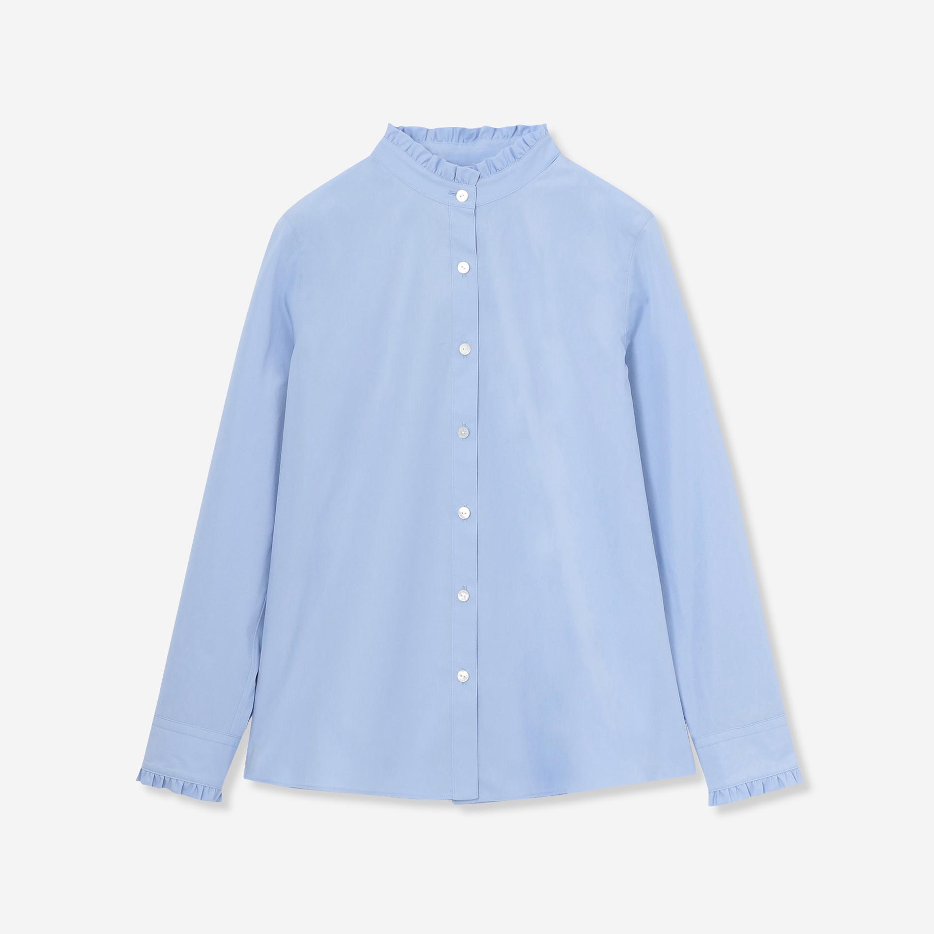 ◆◆ハイカウントブロードフリルカラーシャツ