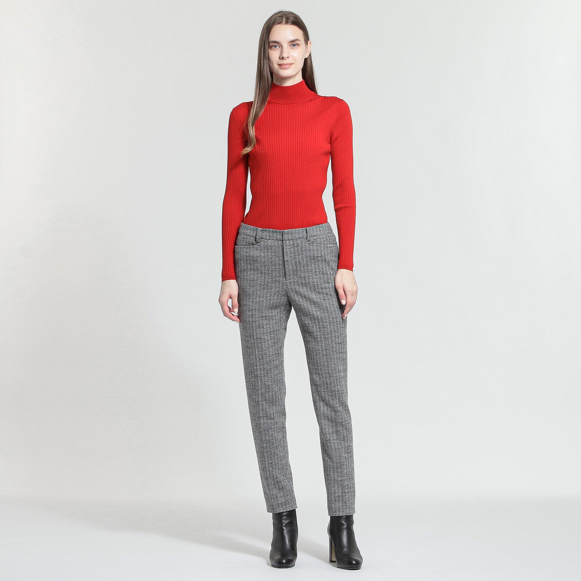 ウールニットリブタートルネックセーター