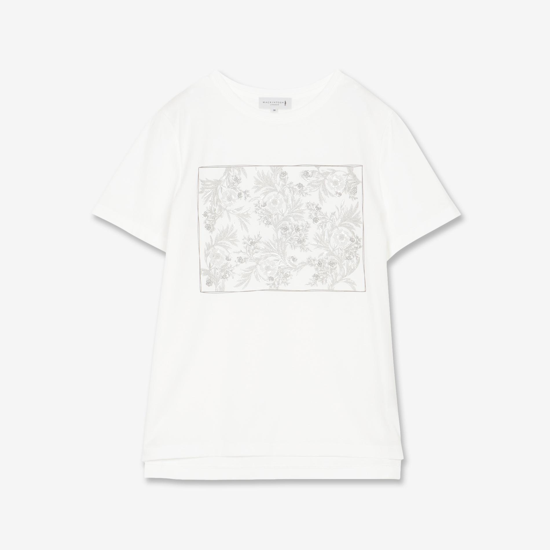 【BIBURY FLOWER】箔プリントTシャツ