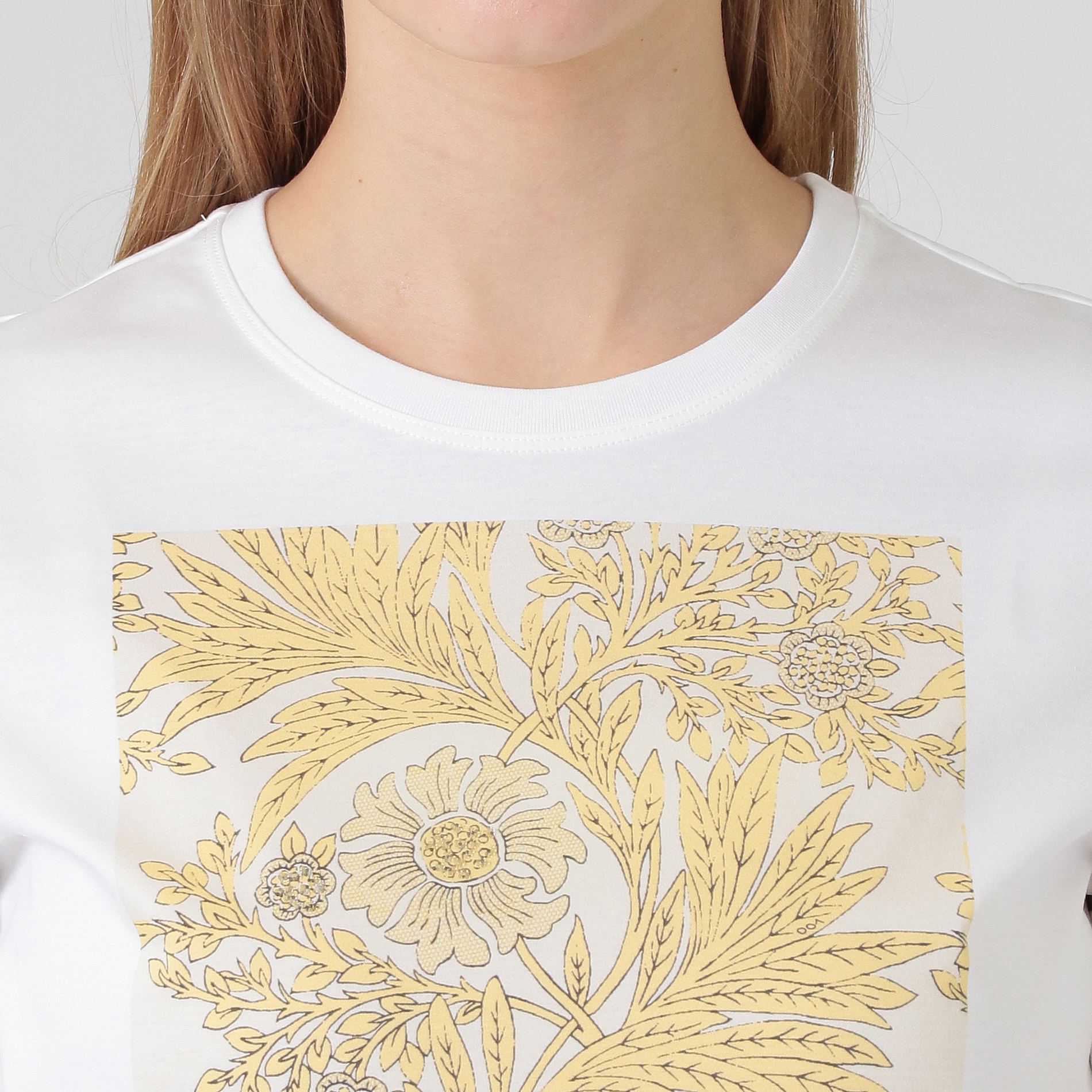 【BIBURY FLOWER】ビーズプリントTシャツ