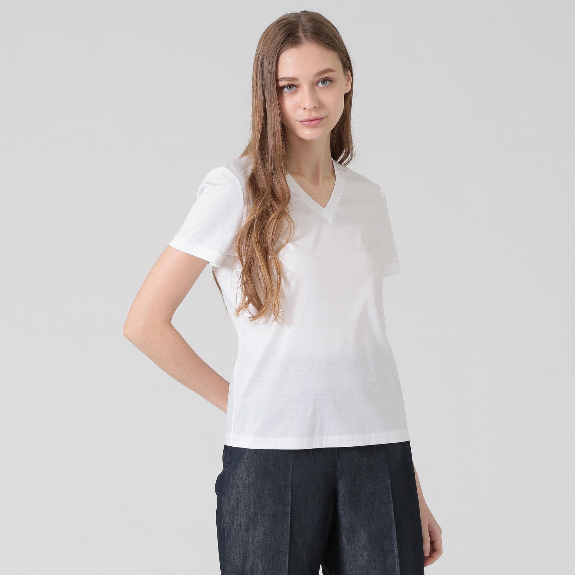 スーピマコットンVネックTシャツ