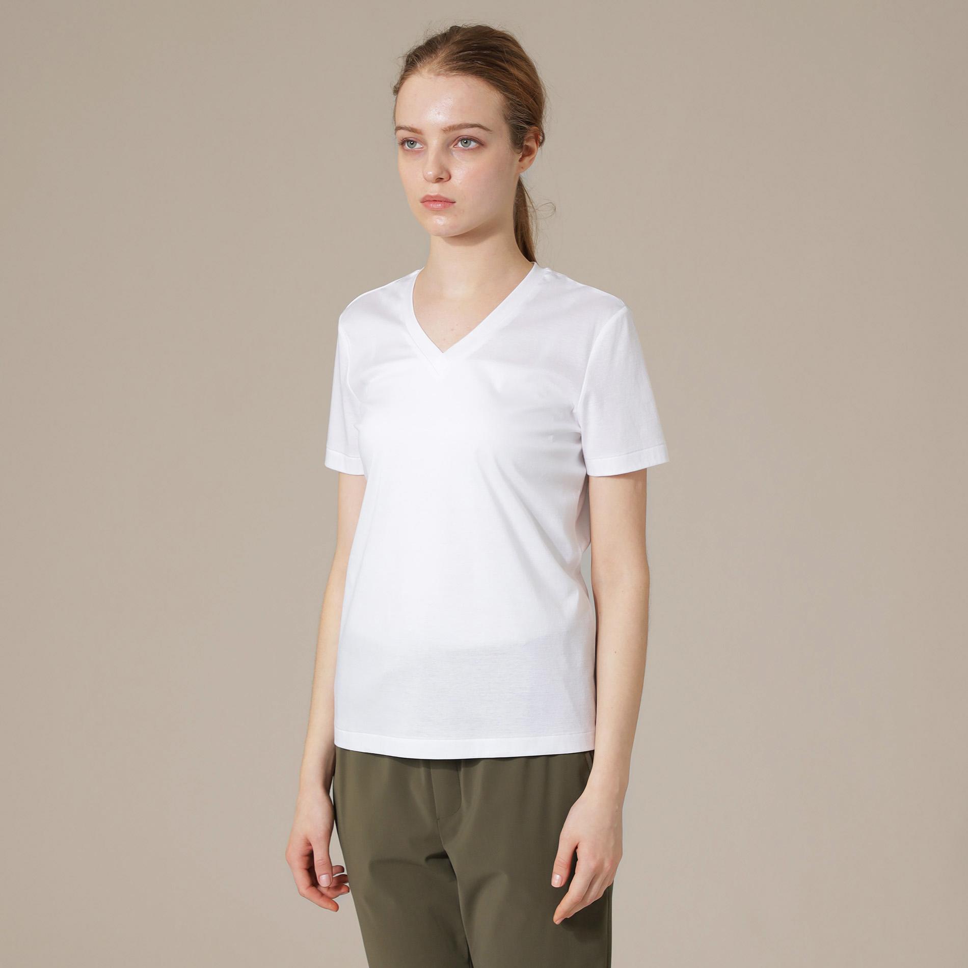 ◆◆【The Essential Collection】スーピマコットンVネック半袖Tシャツ