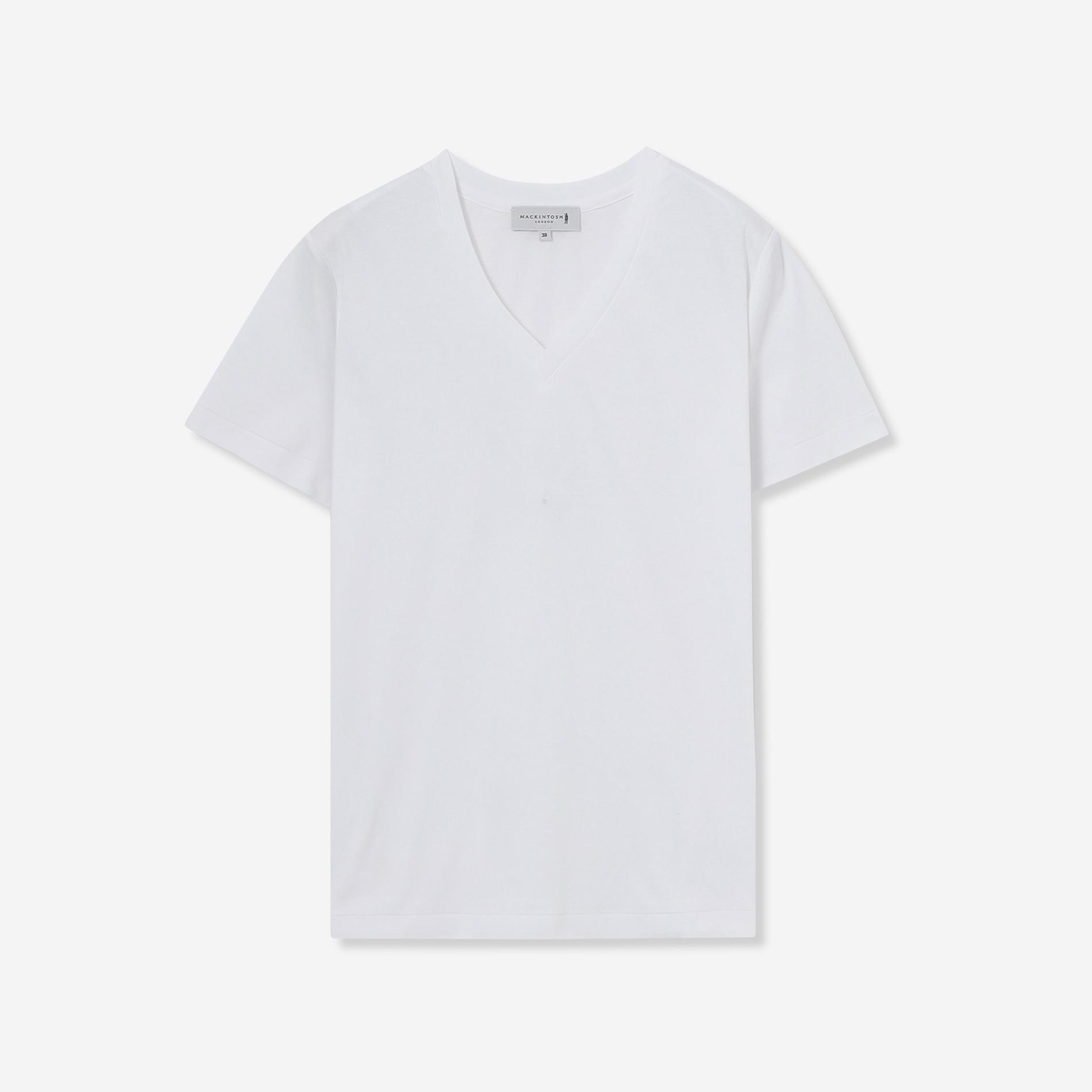 【The Essential Collection】スーピマコットンVネック半袖Tシャツ