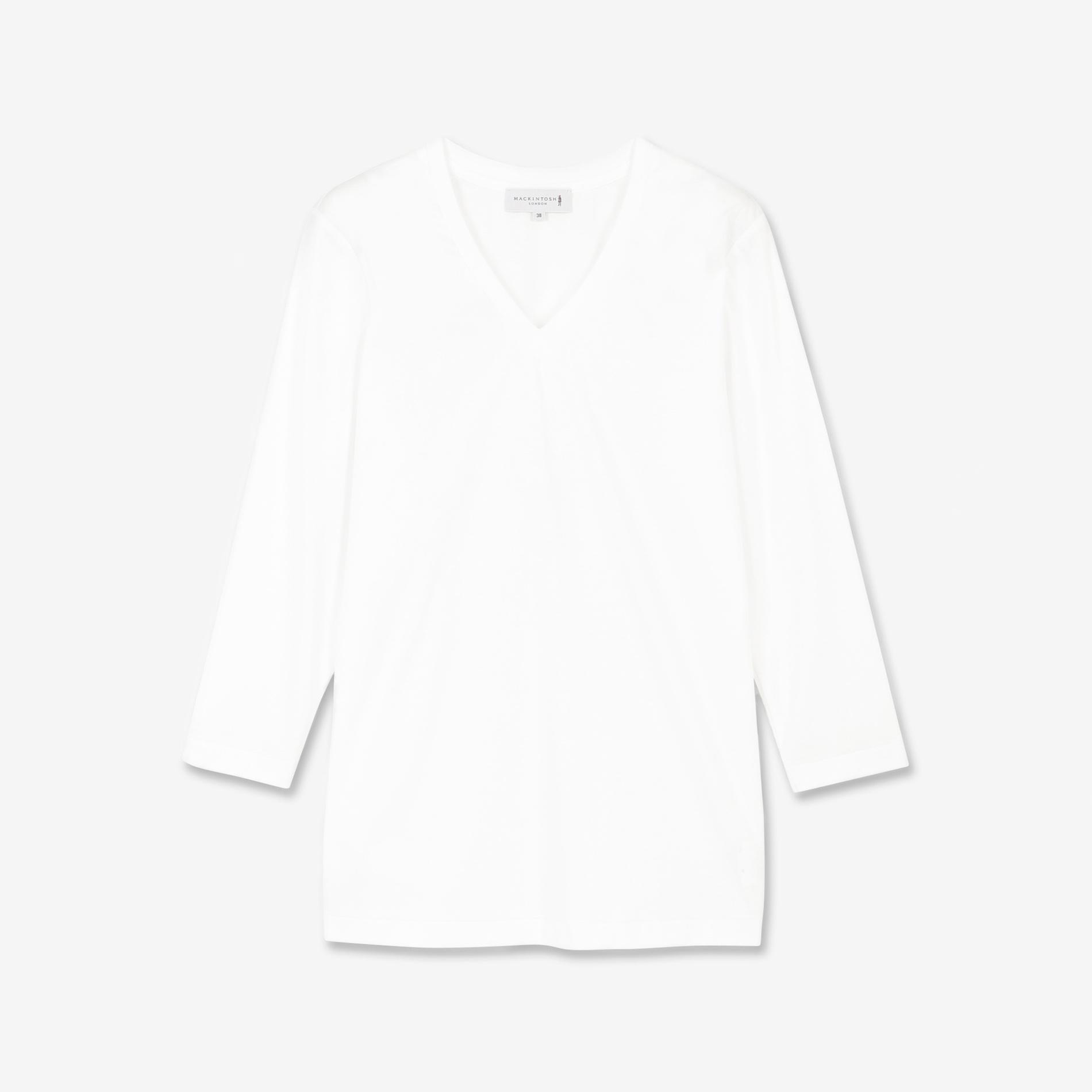 スーピマコットンVネック長袖Tシャツ