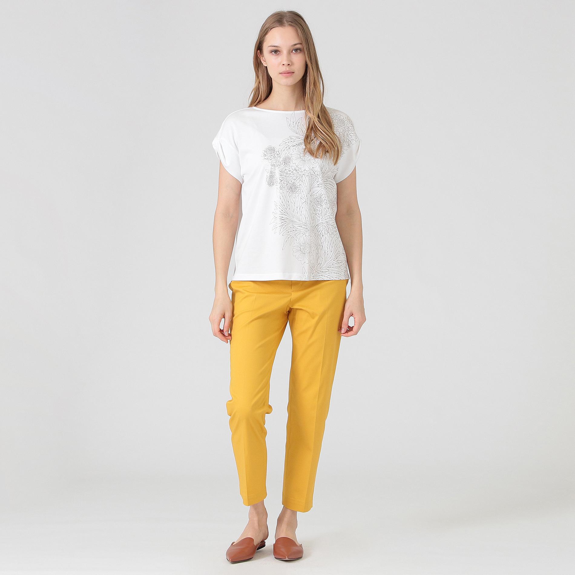 【BIBURY FLOWER】ラインプリントTシャツ