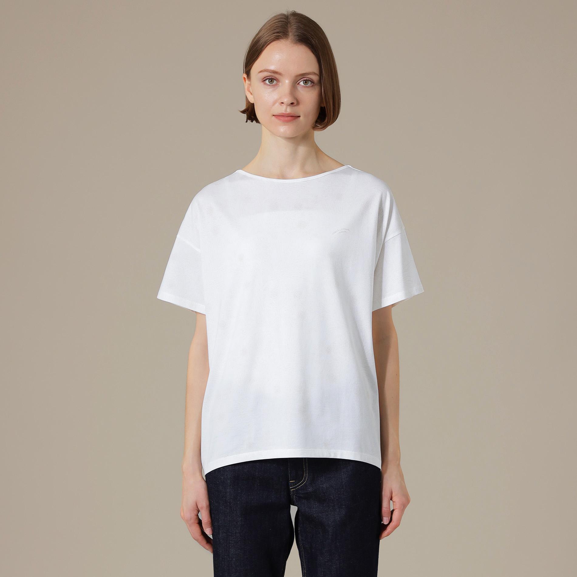 ドローイングドットバイブリープリントTシャツ